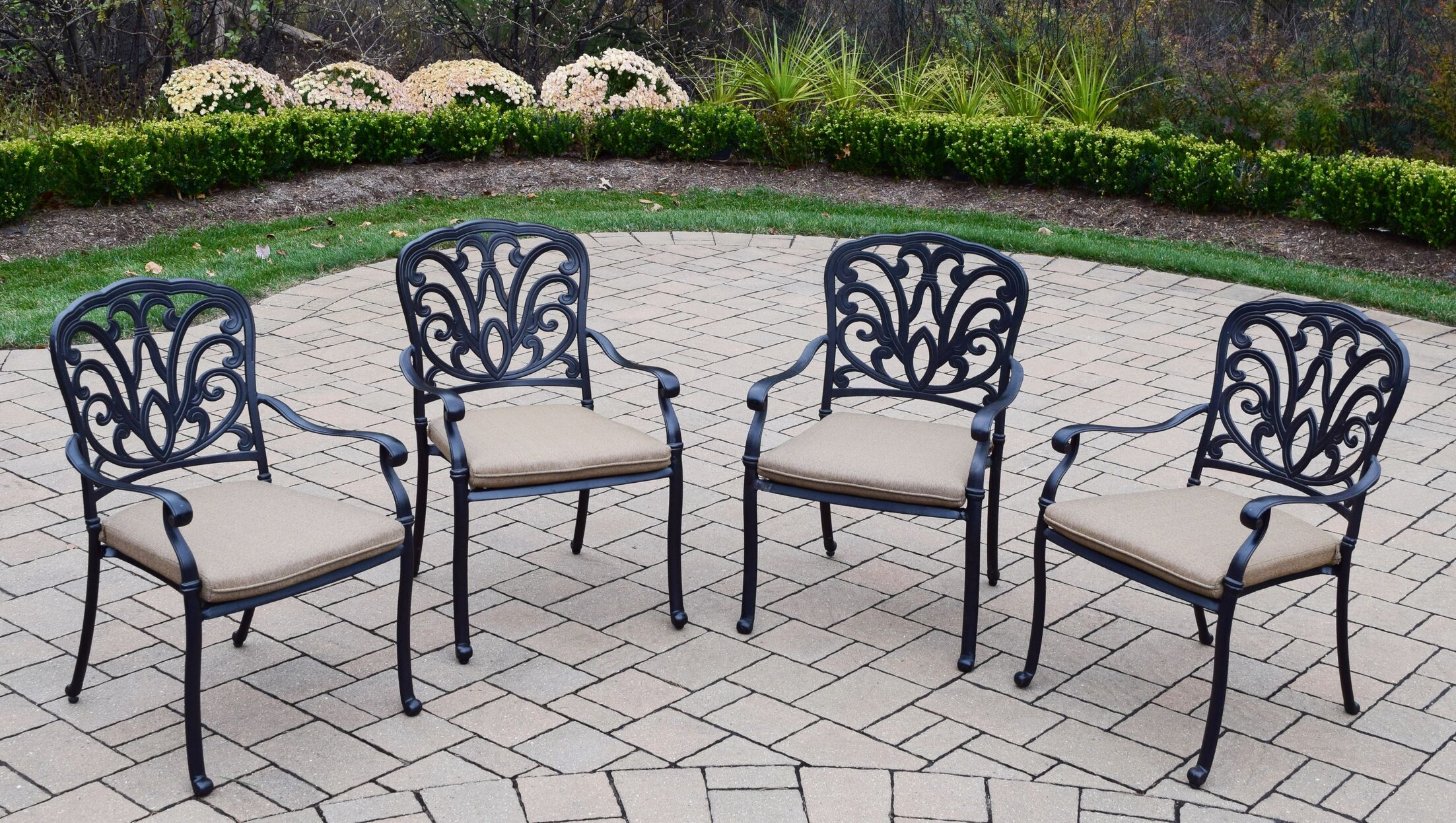 Bosch Aluminum Outdoor 11 Piece Dining Set with Cushions