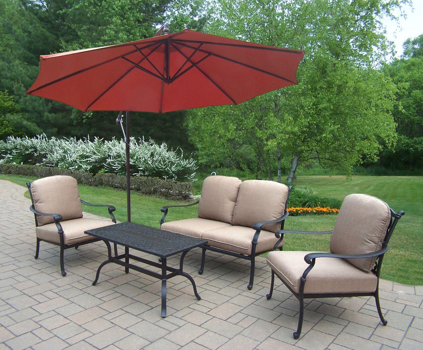 Bosch 5 Piece Sunbrella Sofa Set with Cushions Cushion Fabric: Standard - Tan