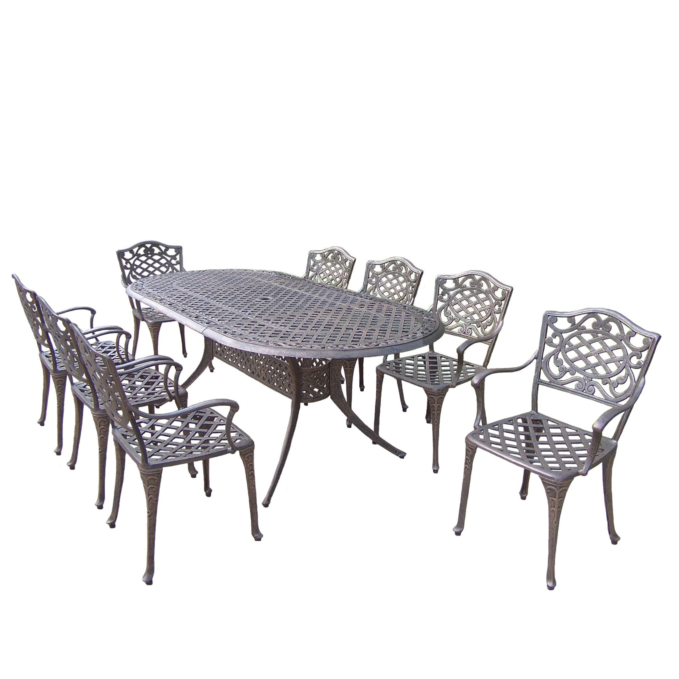 Mississippi 9 Piece Dining Set Cushion: Without
