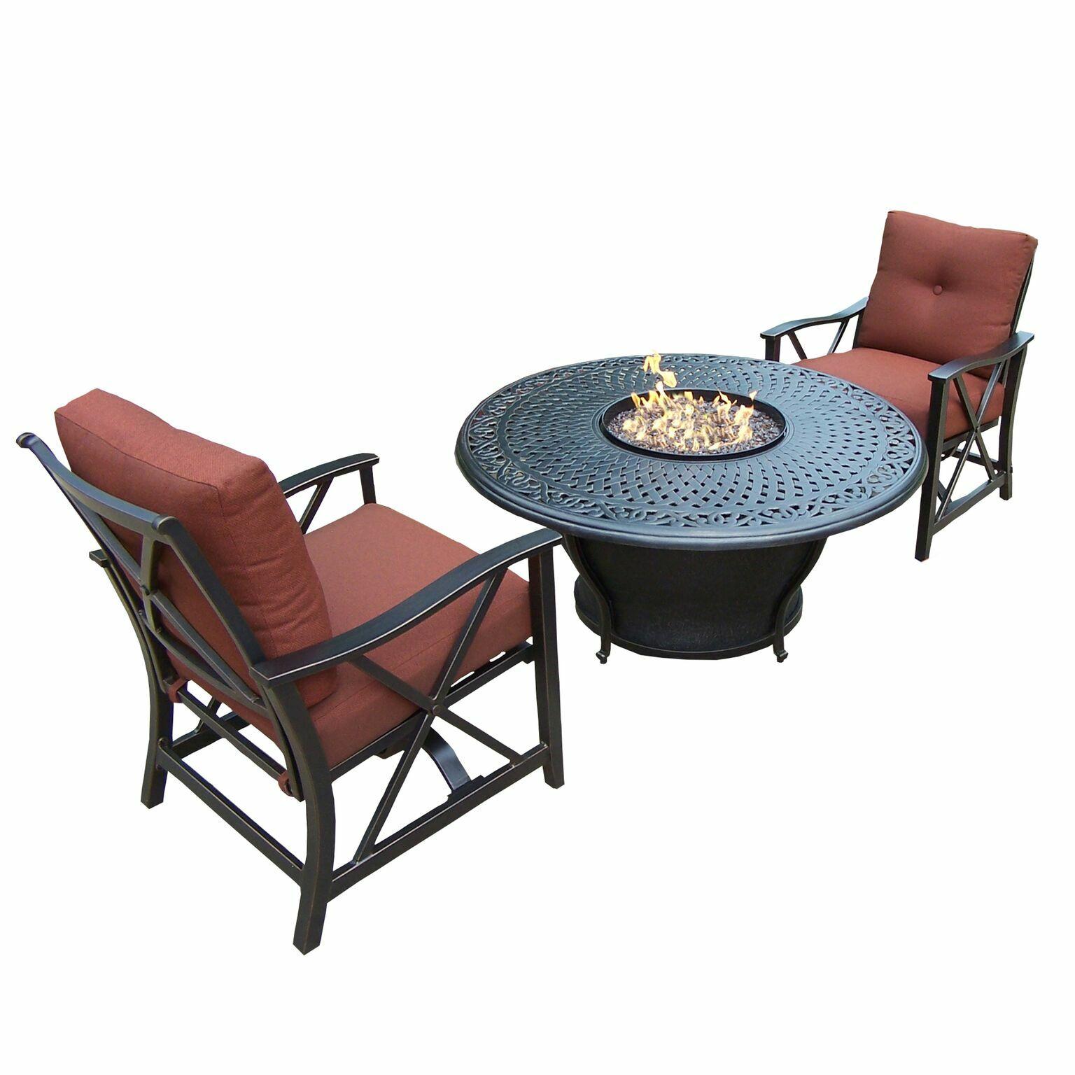 Owego 3 Piece Conversation Set with Cushions