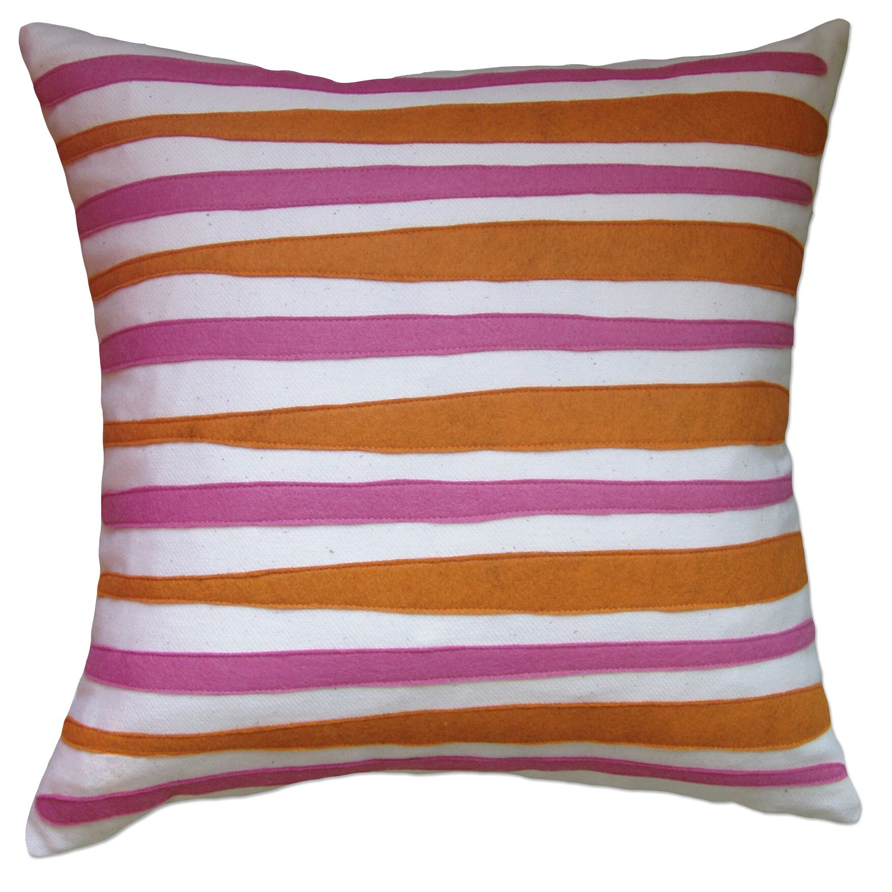 Moris Linen Throw Pillow Color: Off-White Flannel Fabric in Spice/Rose