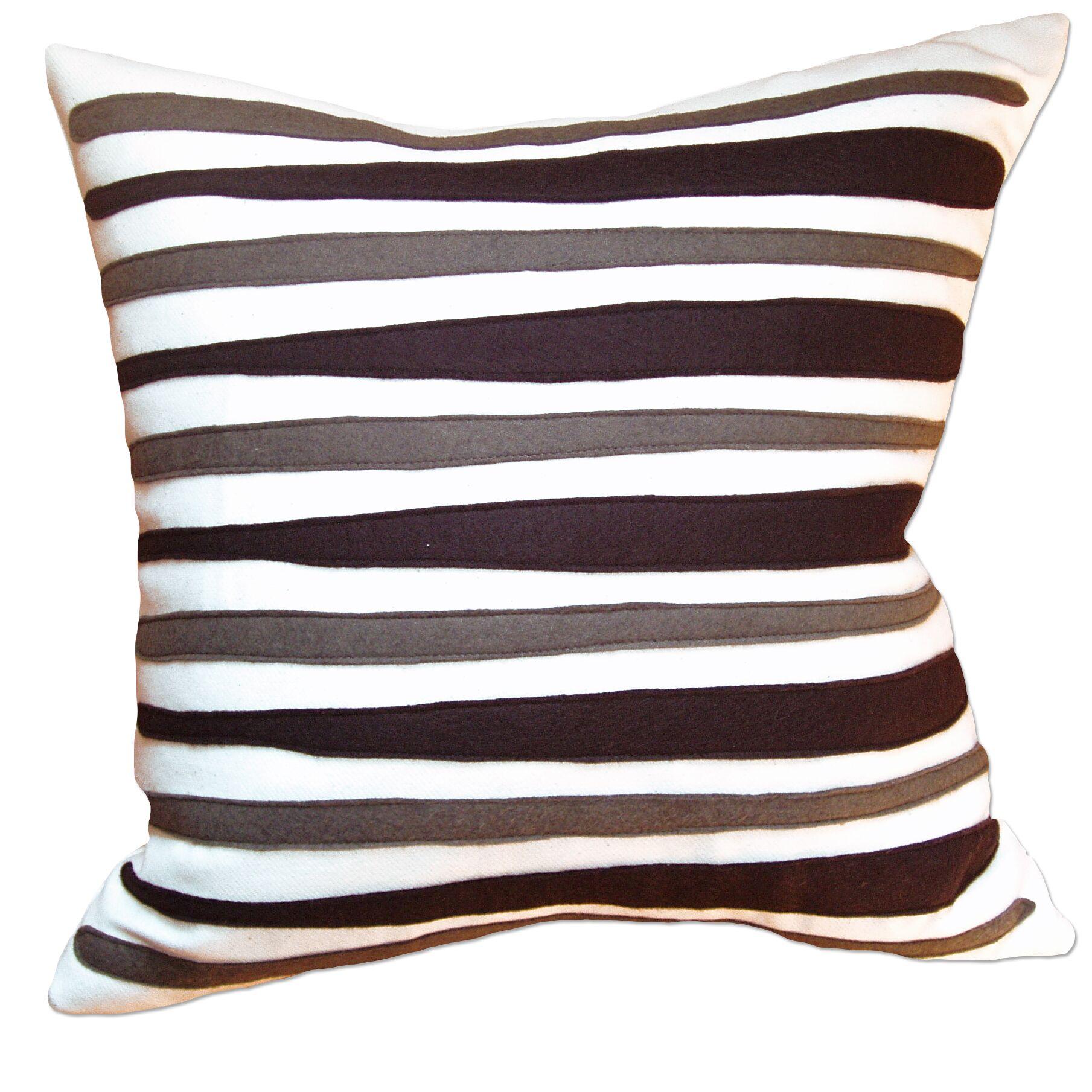 Moris Linen Throw Pillow Color: Oatmeal Linen Fabric in Navy/Leaf