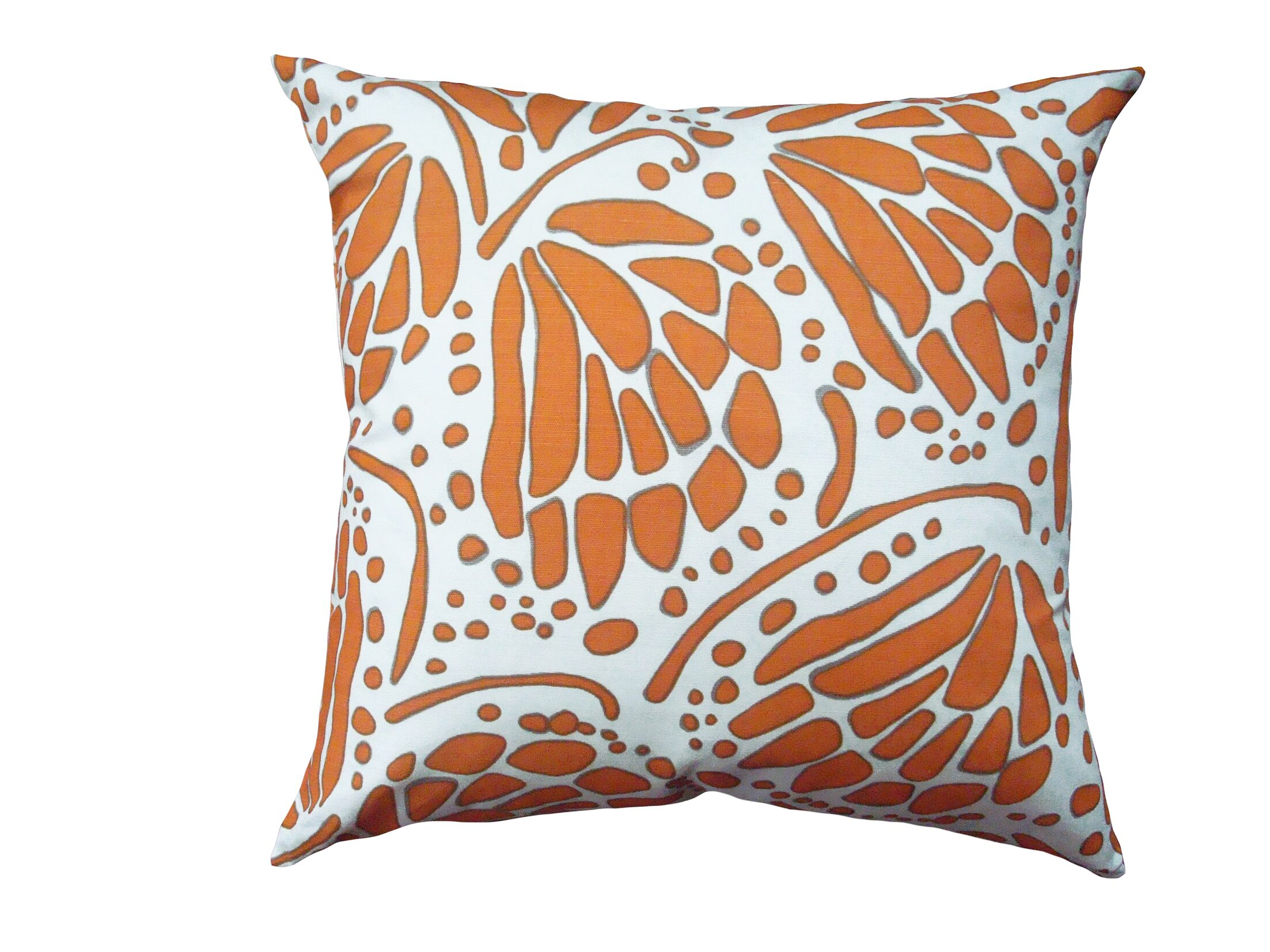 Wings Throw Pillow Size: 16