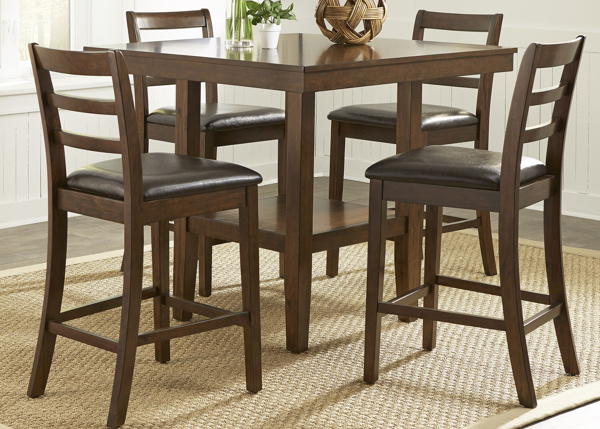 Dining Table Sets Gosselin Contemporary 5 Piece Counter Height Dining Set
