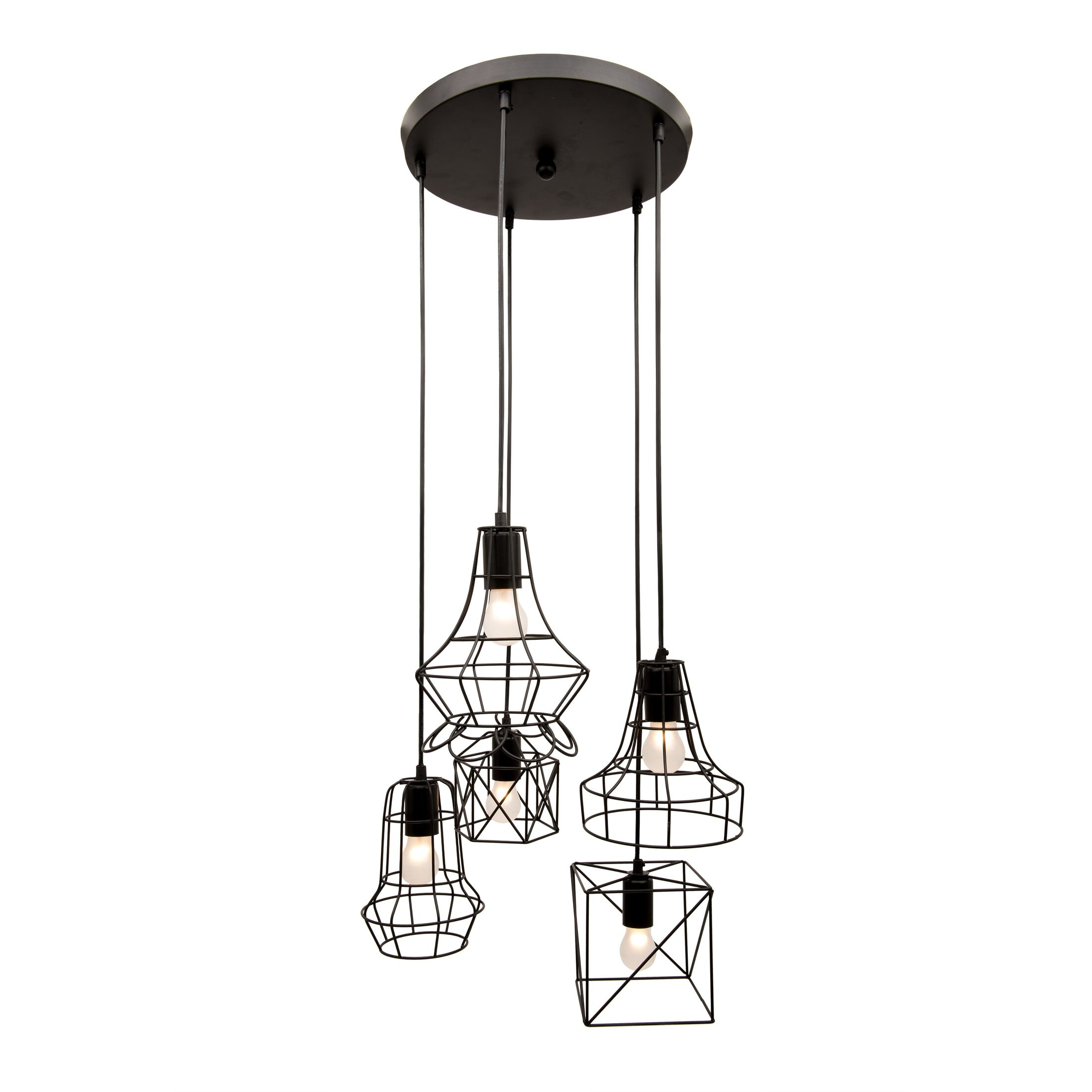 Rowena Iron 5-Light Cluster Pendant