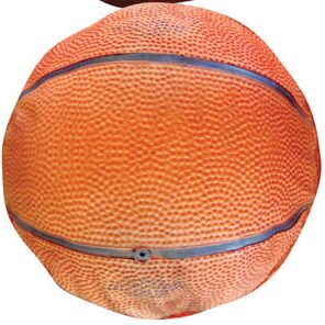 Round Basketball Dog Pillow Size: Small (20