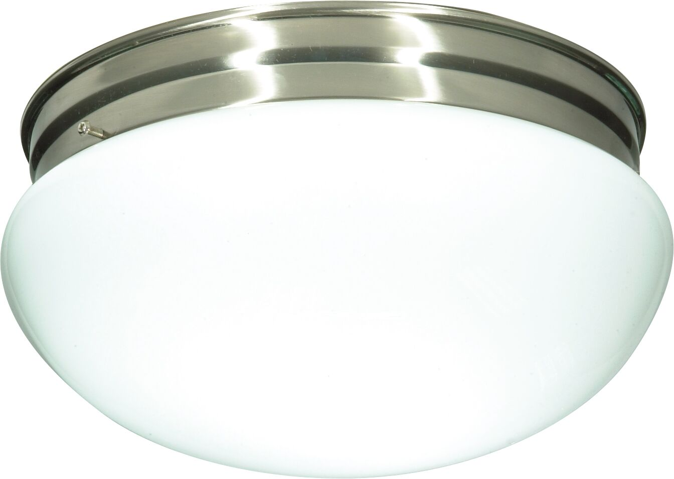 Chacon 2-Light Glass Shade Flush Mount Finish: Brushed Nickel