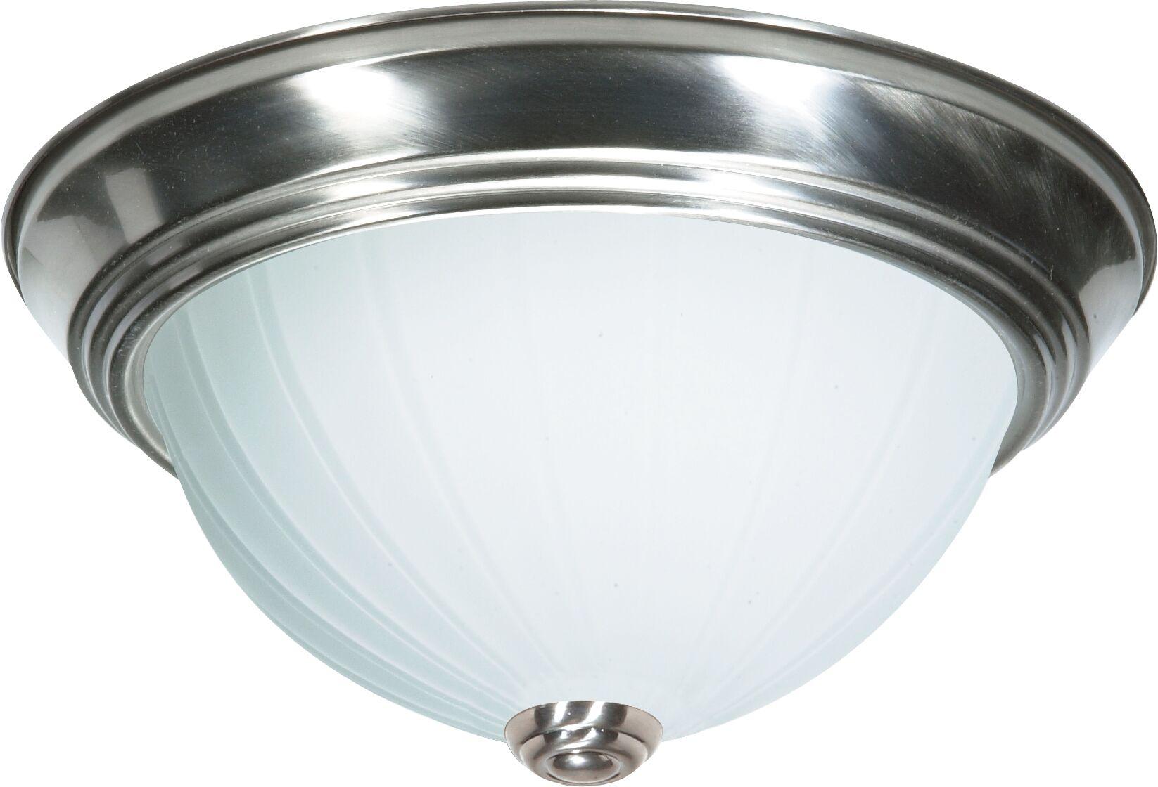 David 3-Light Flush Mount Size: 6