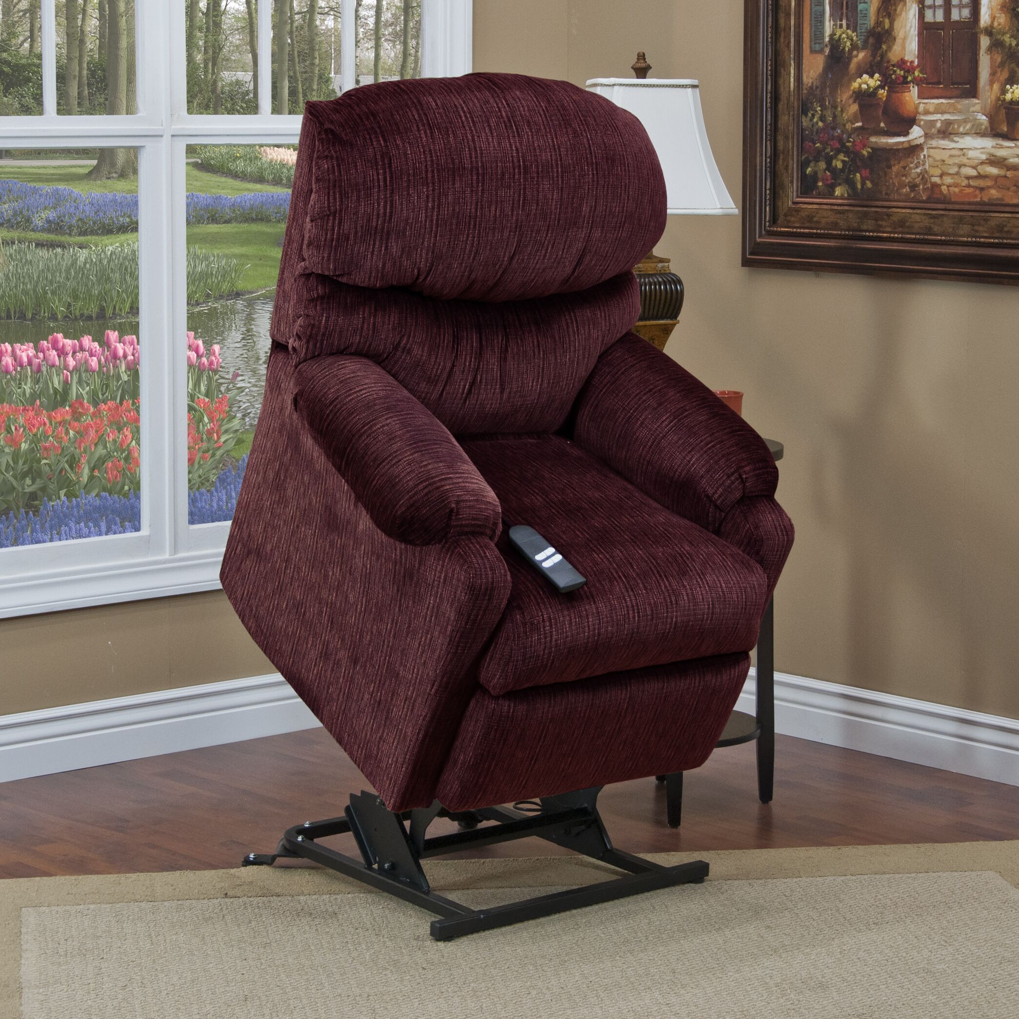 53 Series Petite Lift Assist Recliner Upholstery: Suede Crypton - Cocoa, Moveable Infrared Heat: No, Vibration and Heat: None