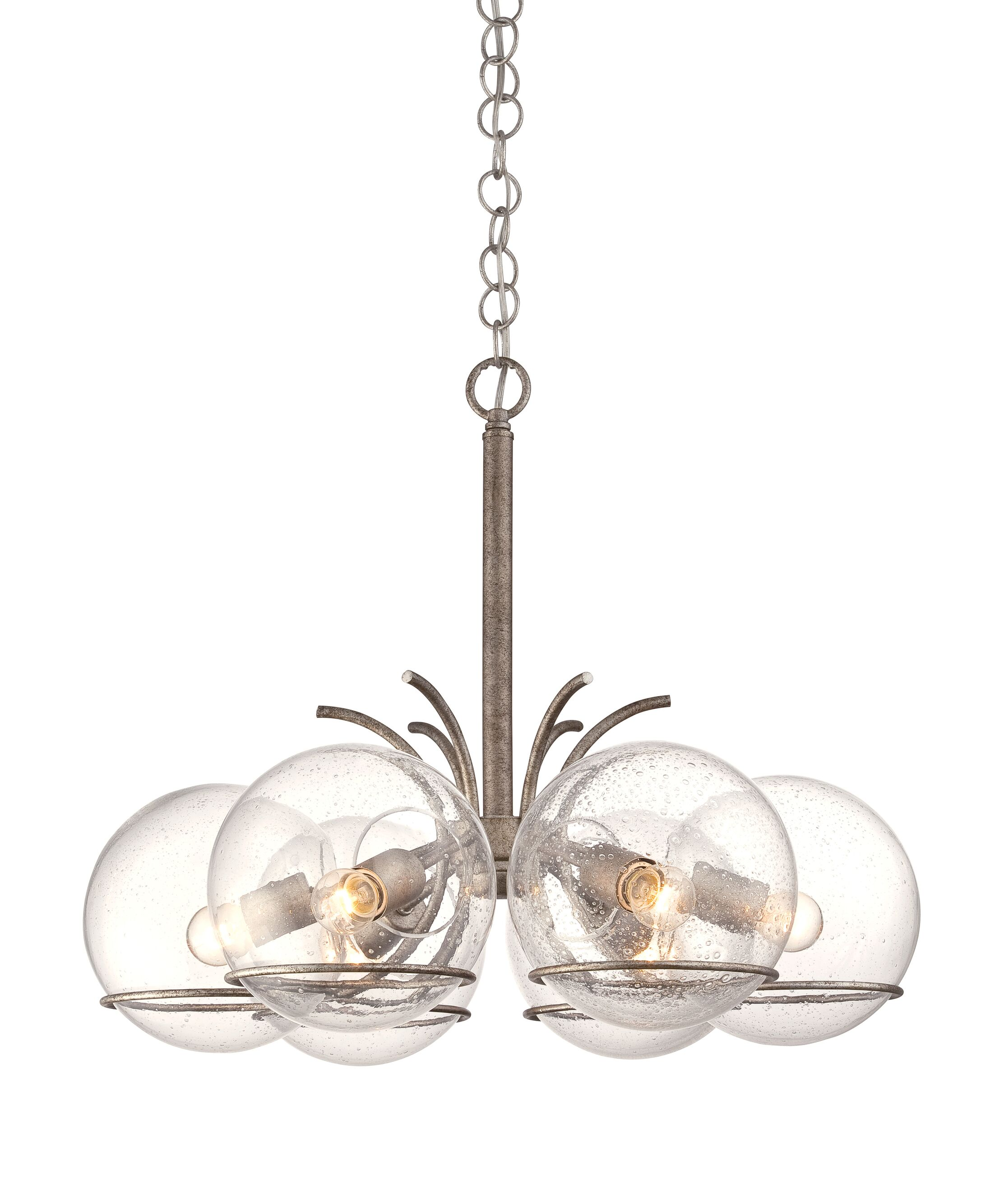 Watson 6-Light Chandelier Finish: Silver Age