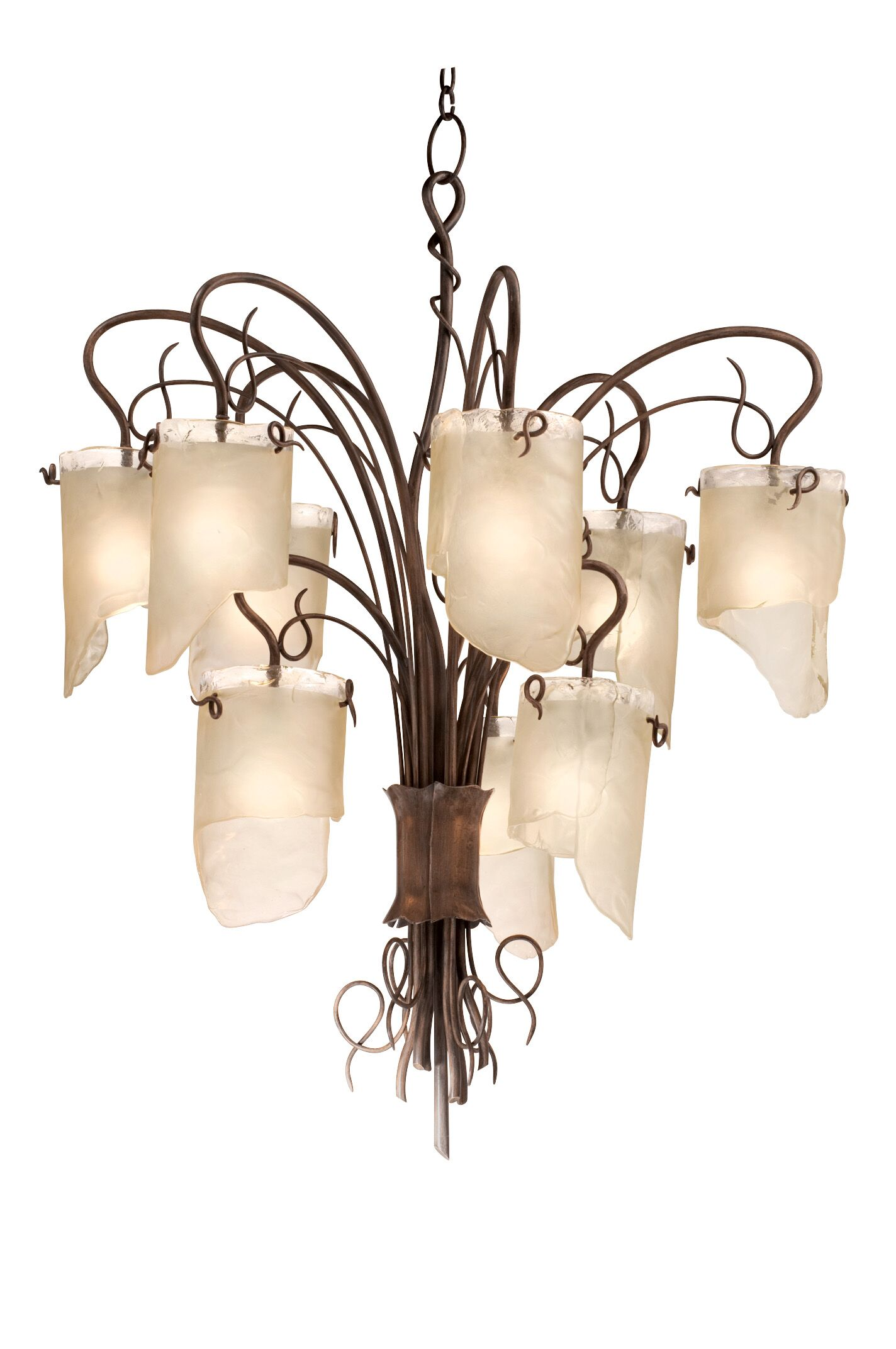 Recyc LED Shaded Chandelier Finish: Hammered Ore