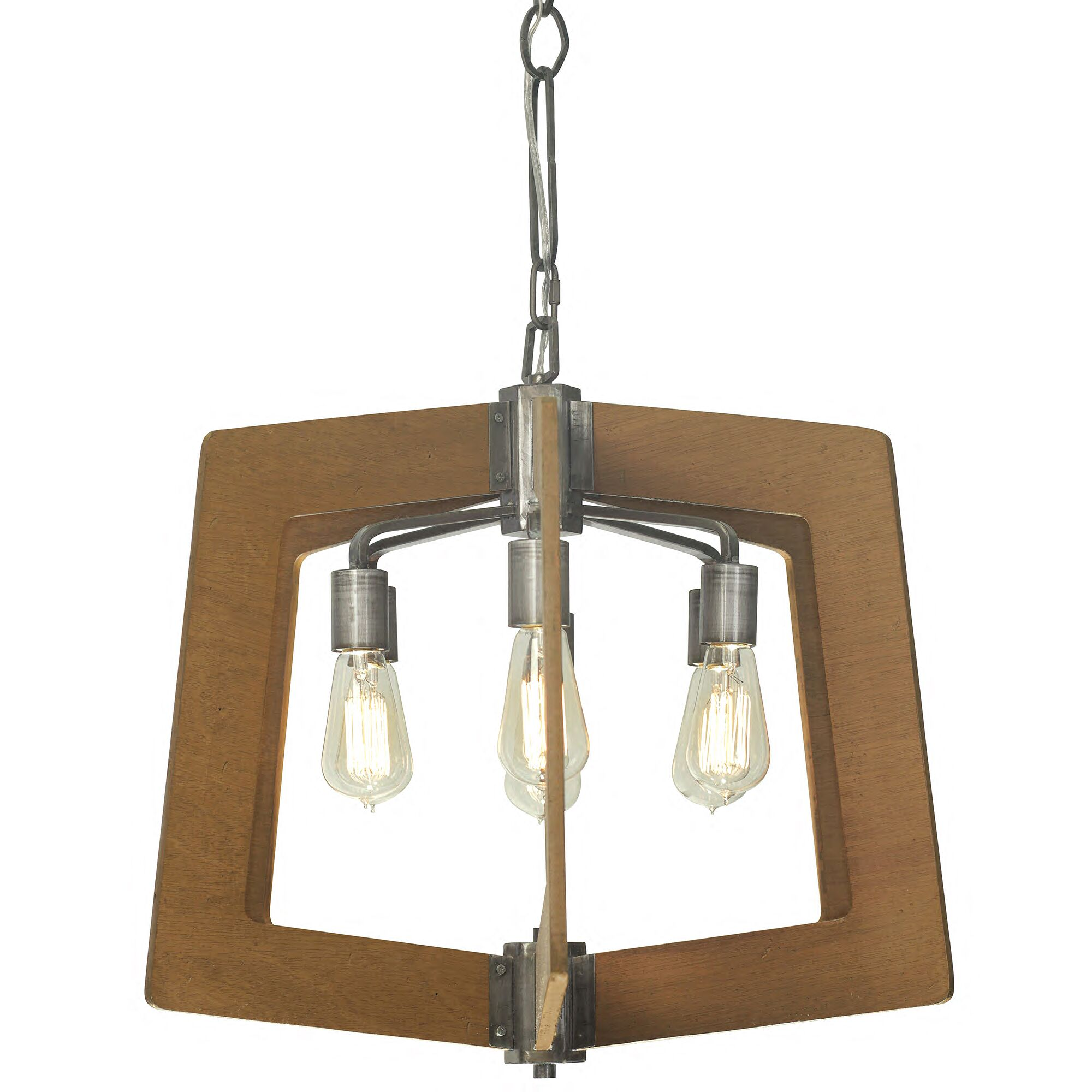 Blayze 6-Light Foyer Pendant Finish: Wheat and Steel
