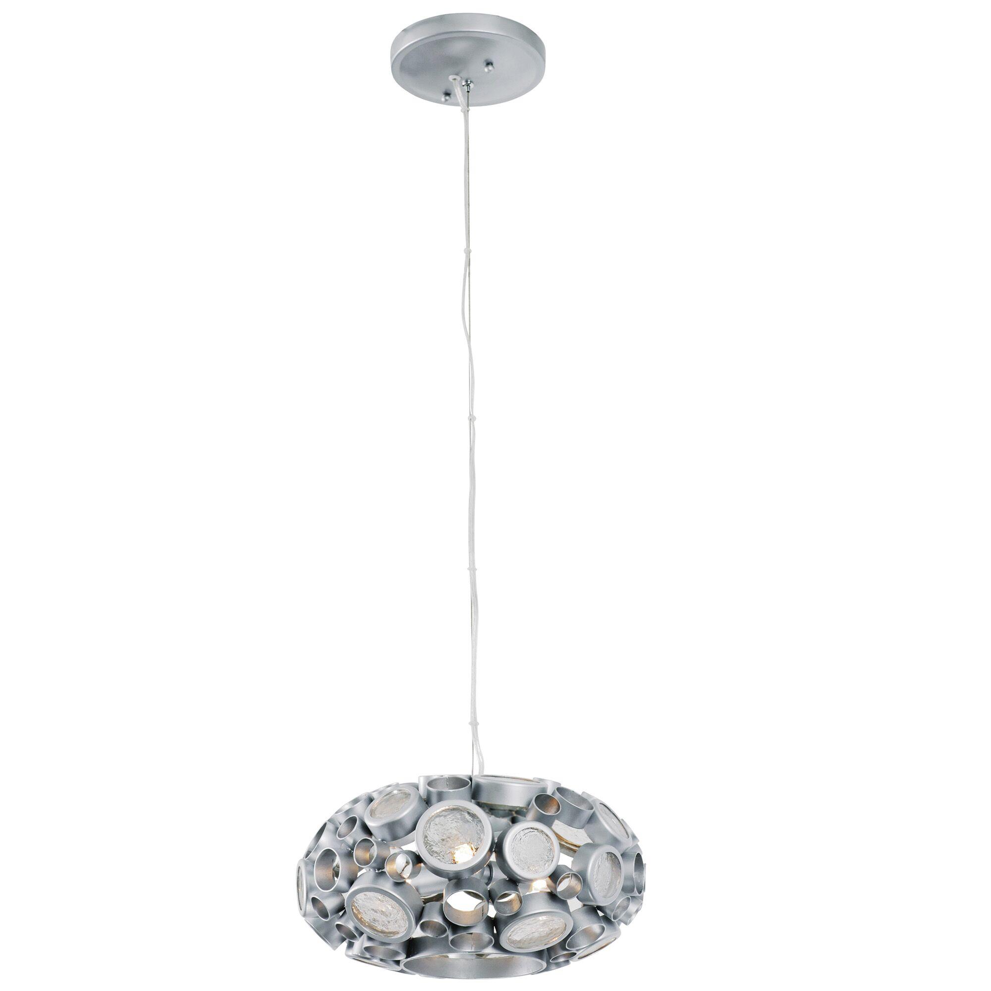 Fascination 3-Light Globe Pendant Finish: Metallic Silver