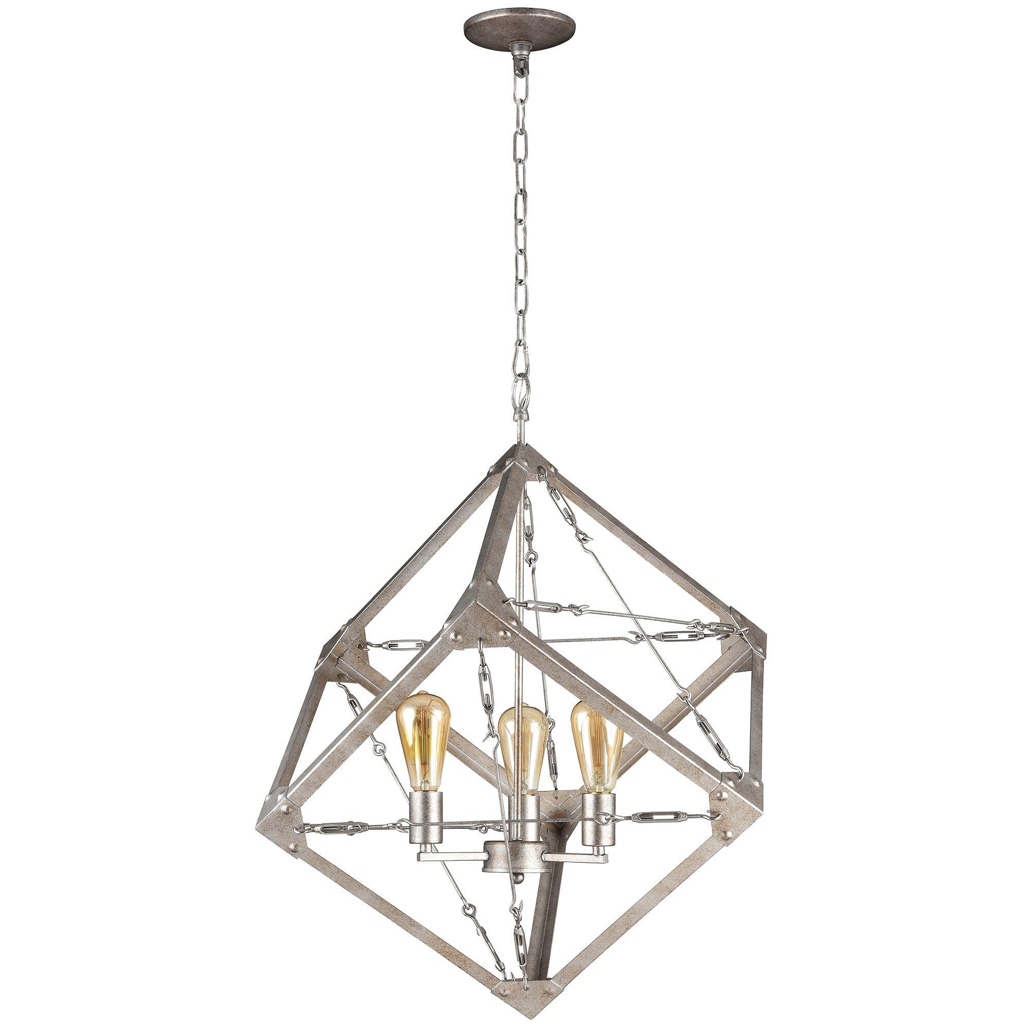 Askew 3-Light Square/Rectangle Chandelier
