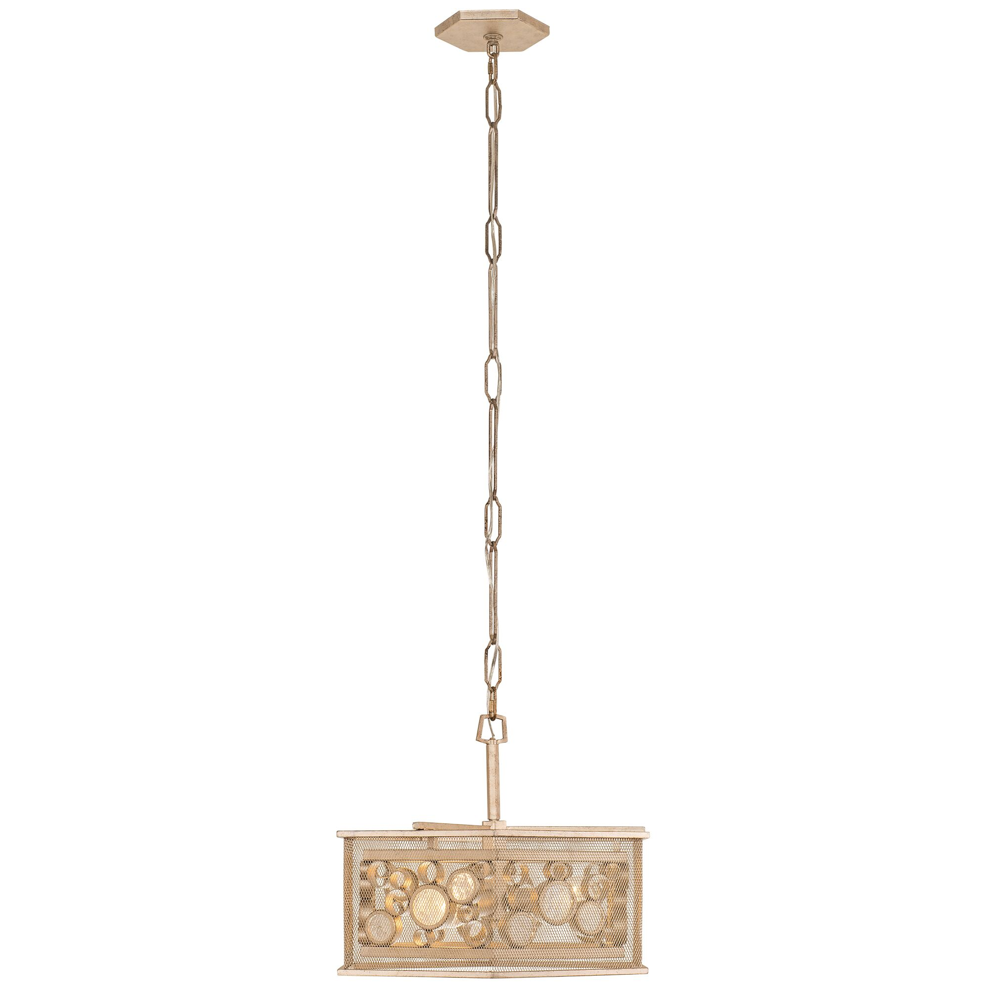 Fascination 3-Light Drum Chandelier Finish: Zen Gold/Recycled Champagne Glass