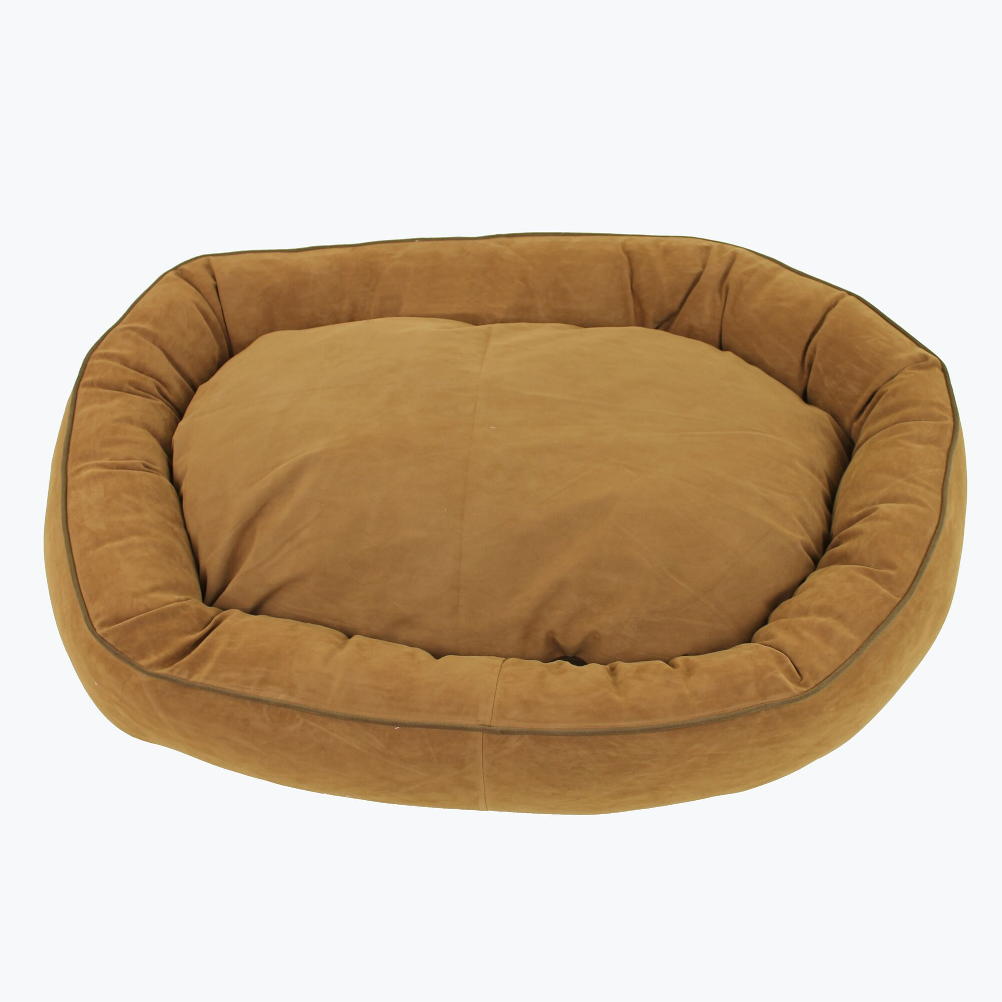 Armijo Oval Lounge Bagel Donut Dog Bed Color: Saddle, Size: Large (36