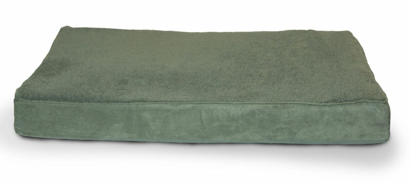 Arocho Terry and Suede Memory Foam Dog Bed Color: Forest, Size: Medium (30