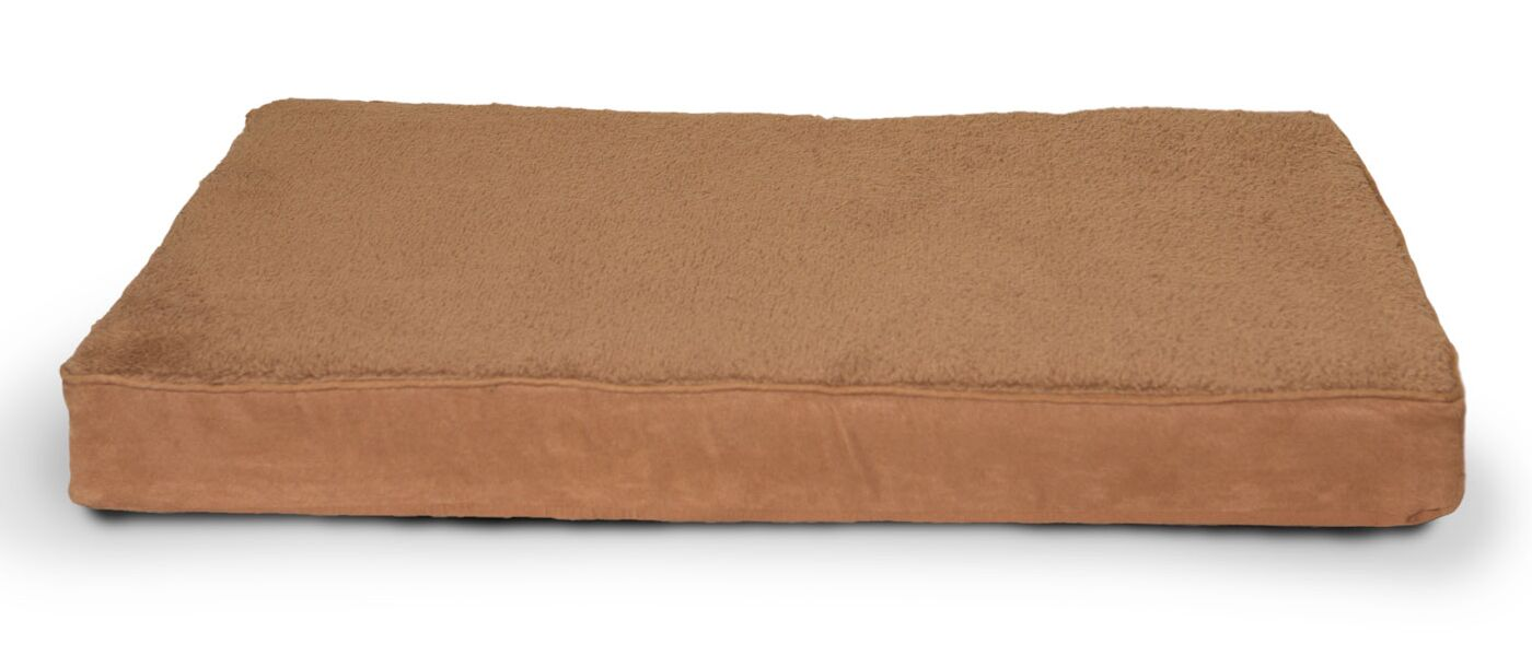 Arocho Terry and Suede Memory Foam Dog Bed Color: Camel, Size: Medium (30