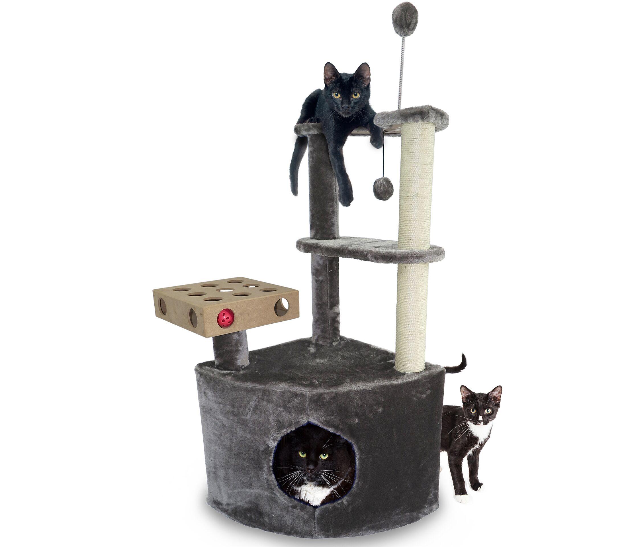 Arney Home Base Playground Corner Cat Tree with Cat Condo