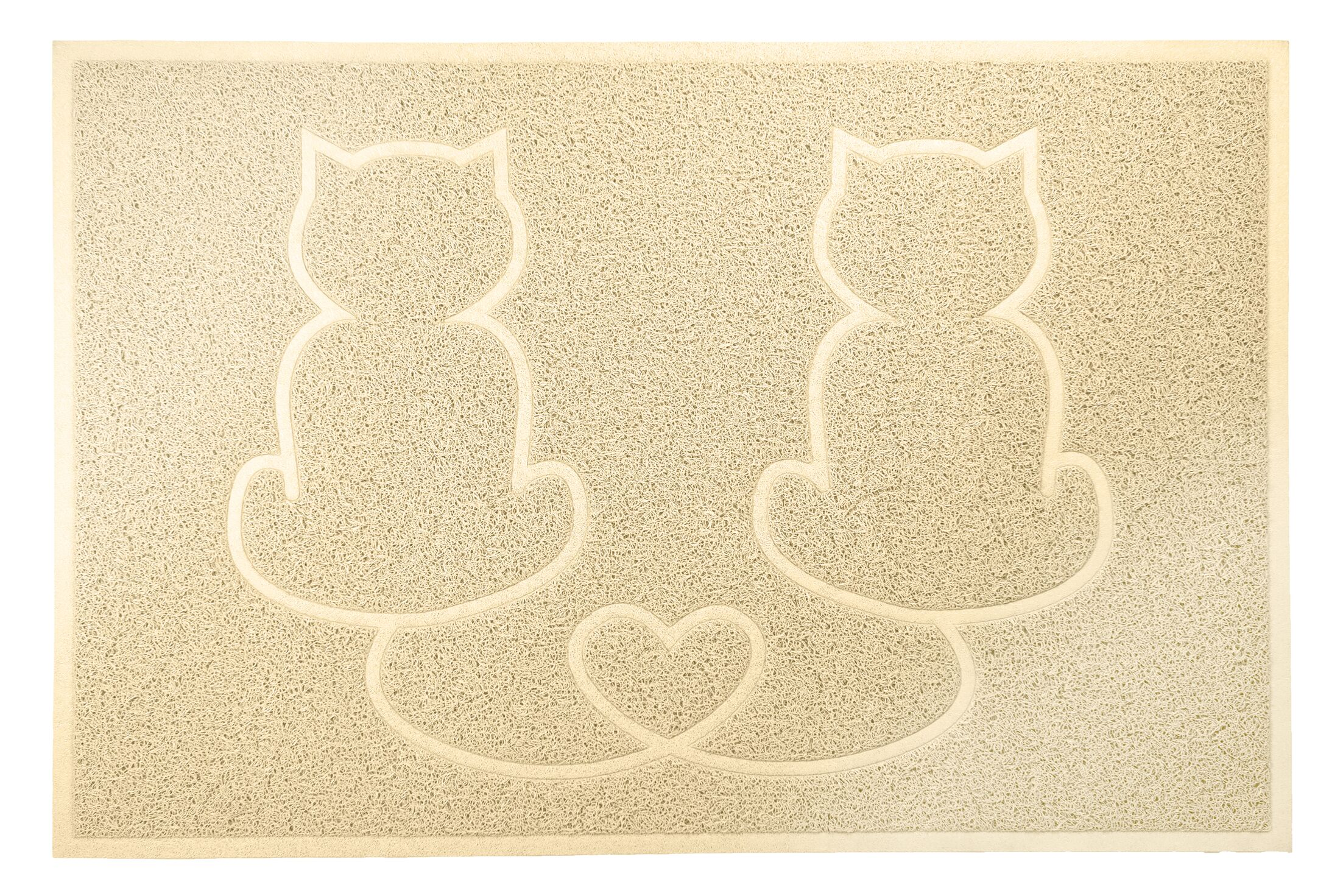 Artrip Tidy Paws Litter and Food Mat Color: Cream