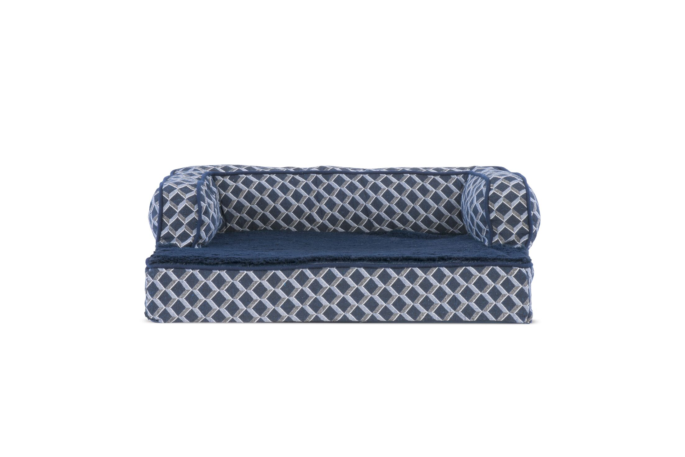 Betsy Comfy Couch Orthopedic Dog Sofa Color: Diamond Blue, Size: 36