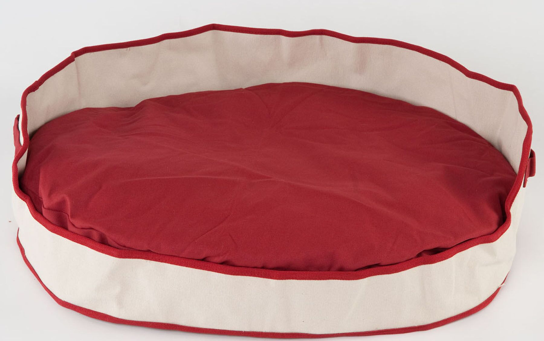 Armes Oval Bolster Dog Bed Color: Red, Size: Medium (35