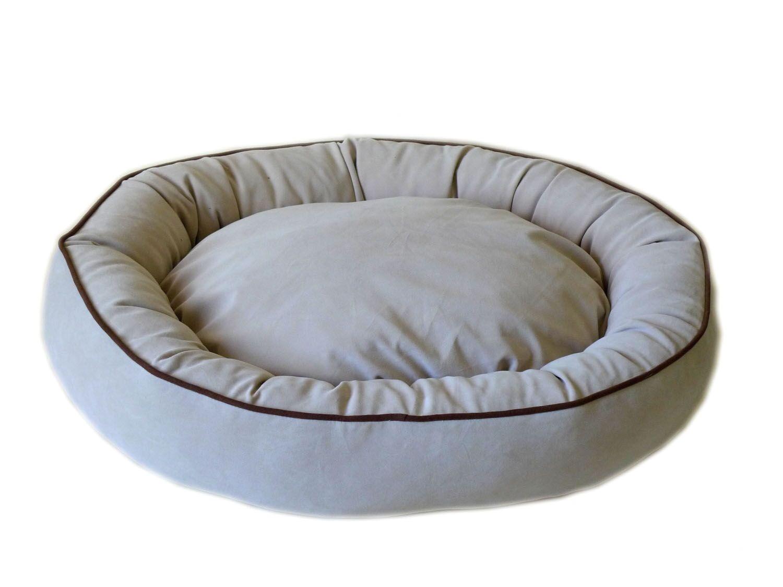 Armijo Oval Lounge Bagel Donut Dog Bed Color: Linen, Size: Large (36