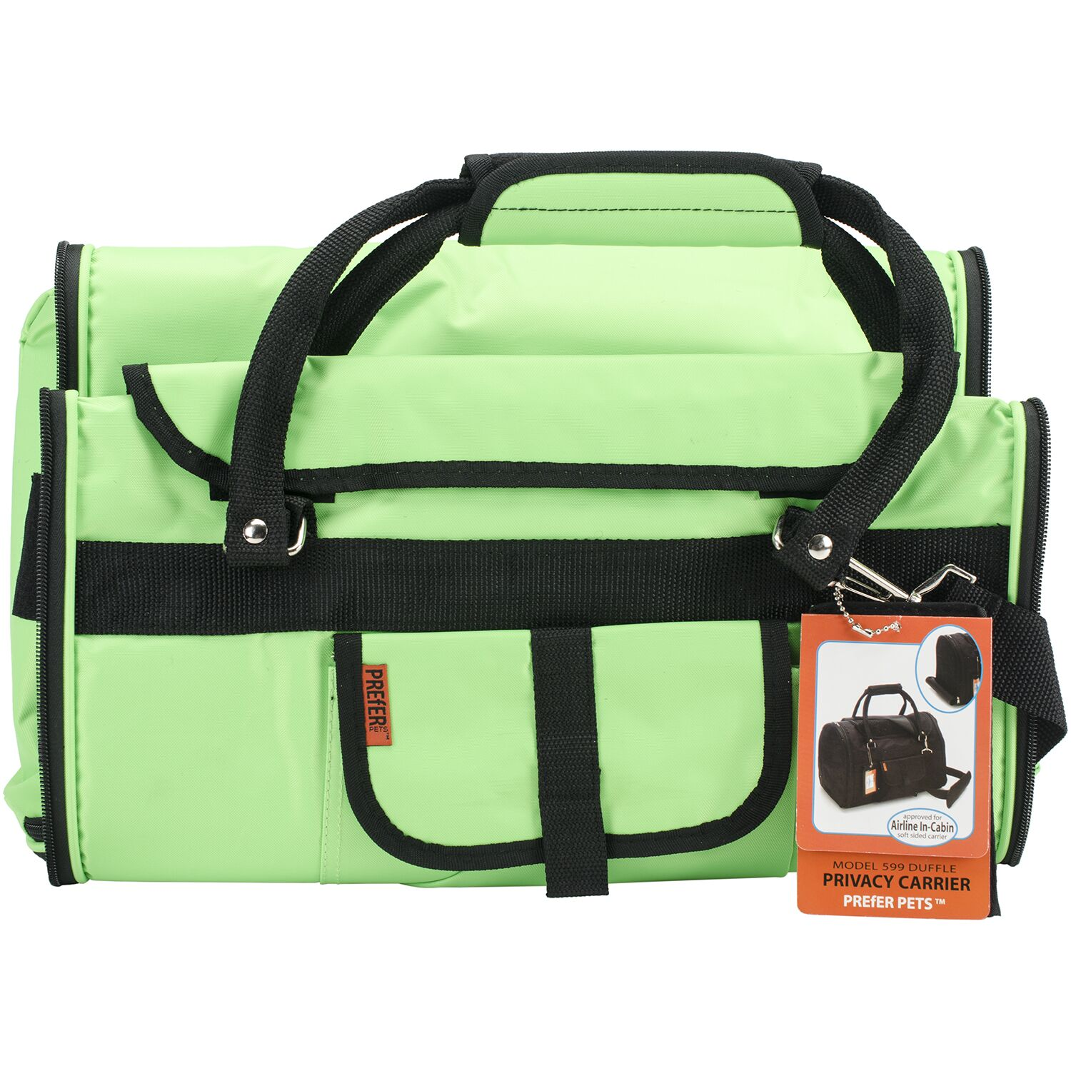 Travel Privacy Pet Carrier Color: Lime Green