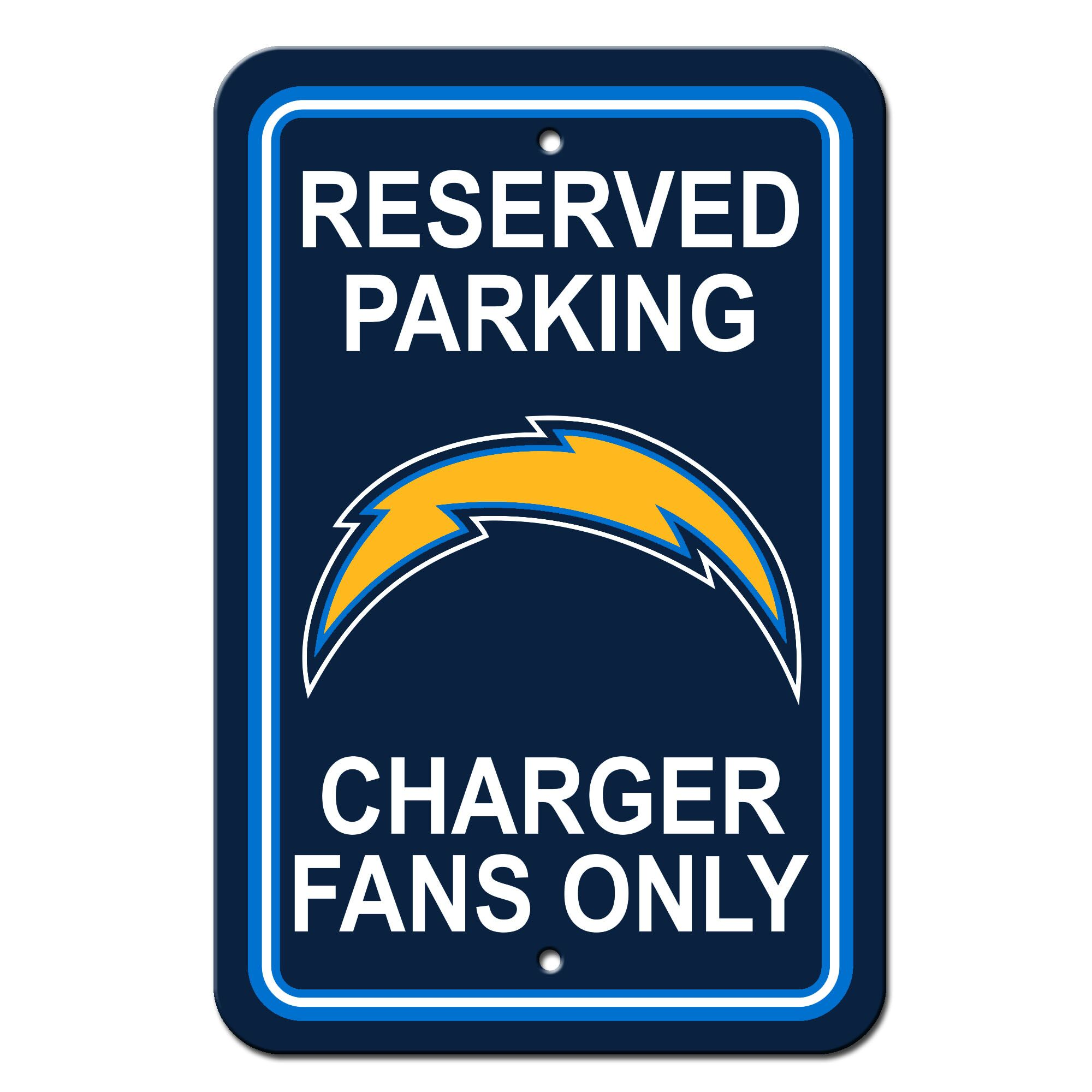NFL Plastic Reserved Parking Sign NFL Team: San Diego Chargers