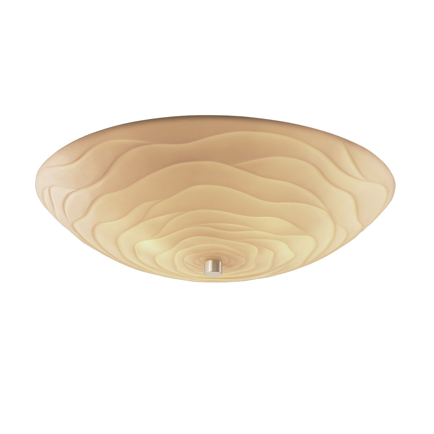 Thora Round Bowls 6-Light Flush Mount Finish: Polished Chrome, Impression: Sawtooth