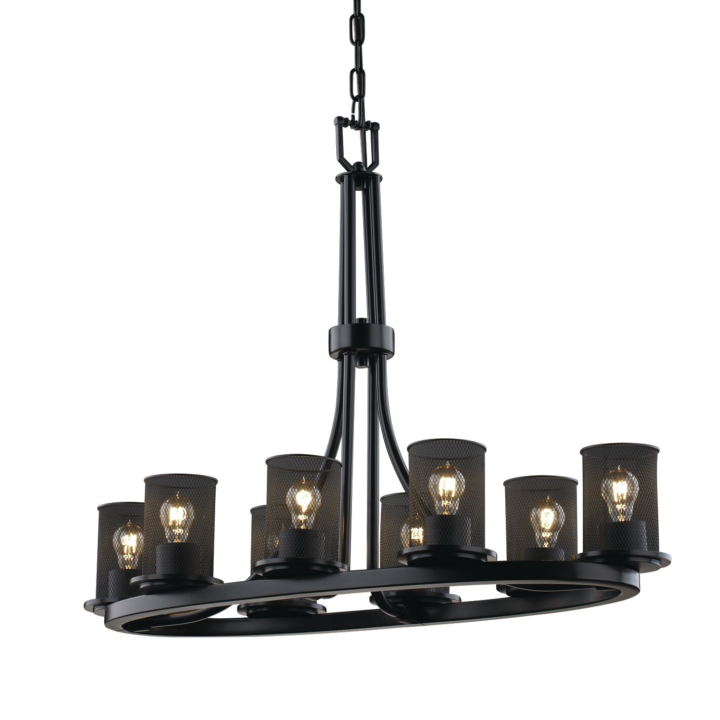 Bennett 8-Light Shaded Chandelier Finish: Matte Black