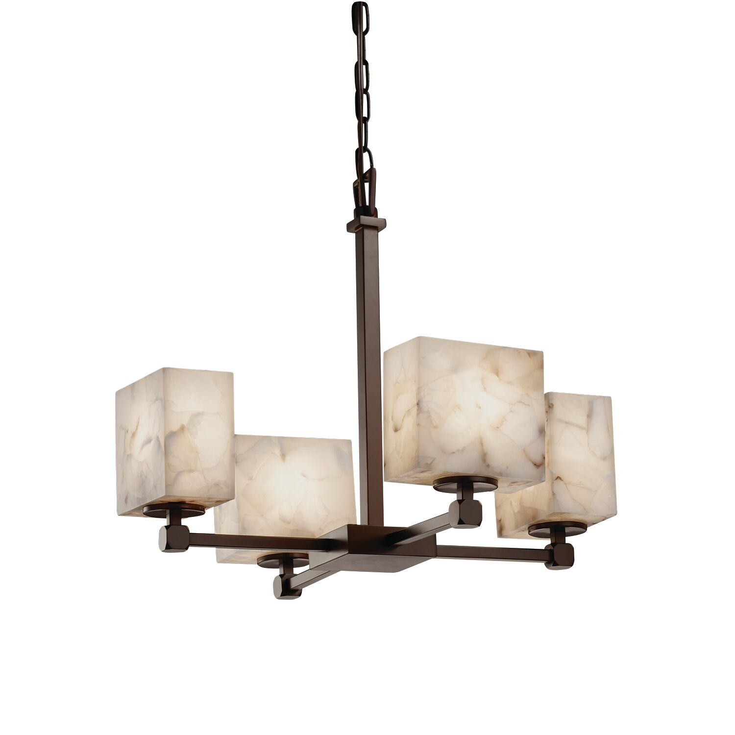 Conovan 4-Light Shaded Chandelier Finish: Dark Bronze
