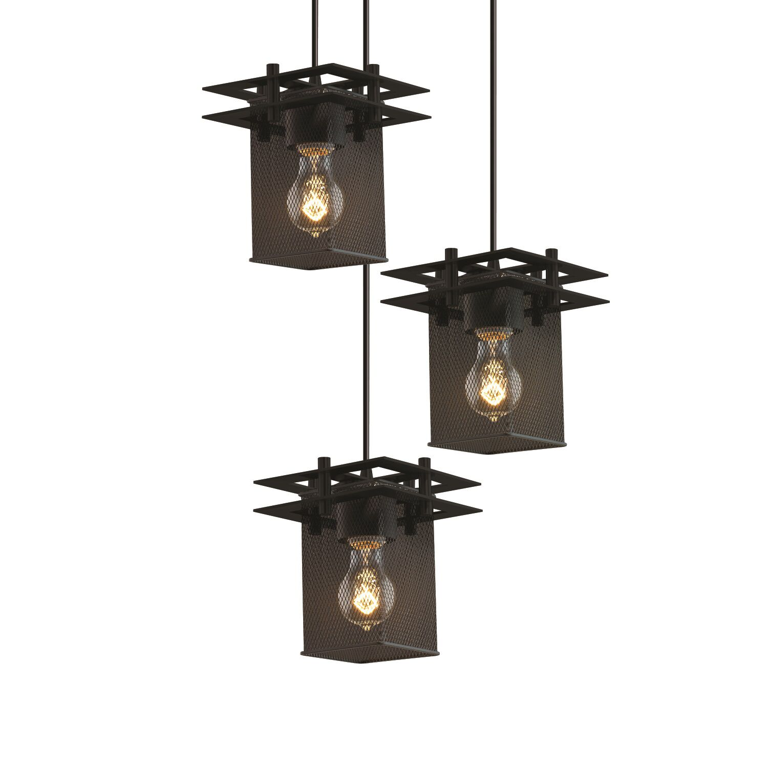 Bennett 3-Light Pendant Finish: Matte Black