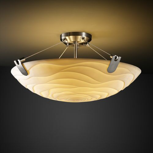 Thora 3-Light Round Bowl Semi Flush Mount Finish: Dark Bronze, Impression: Sawtooth