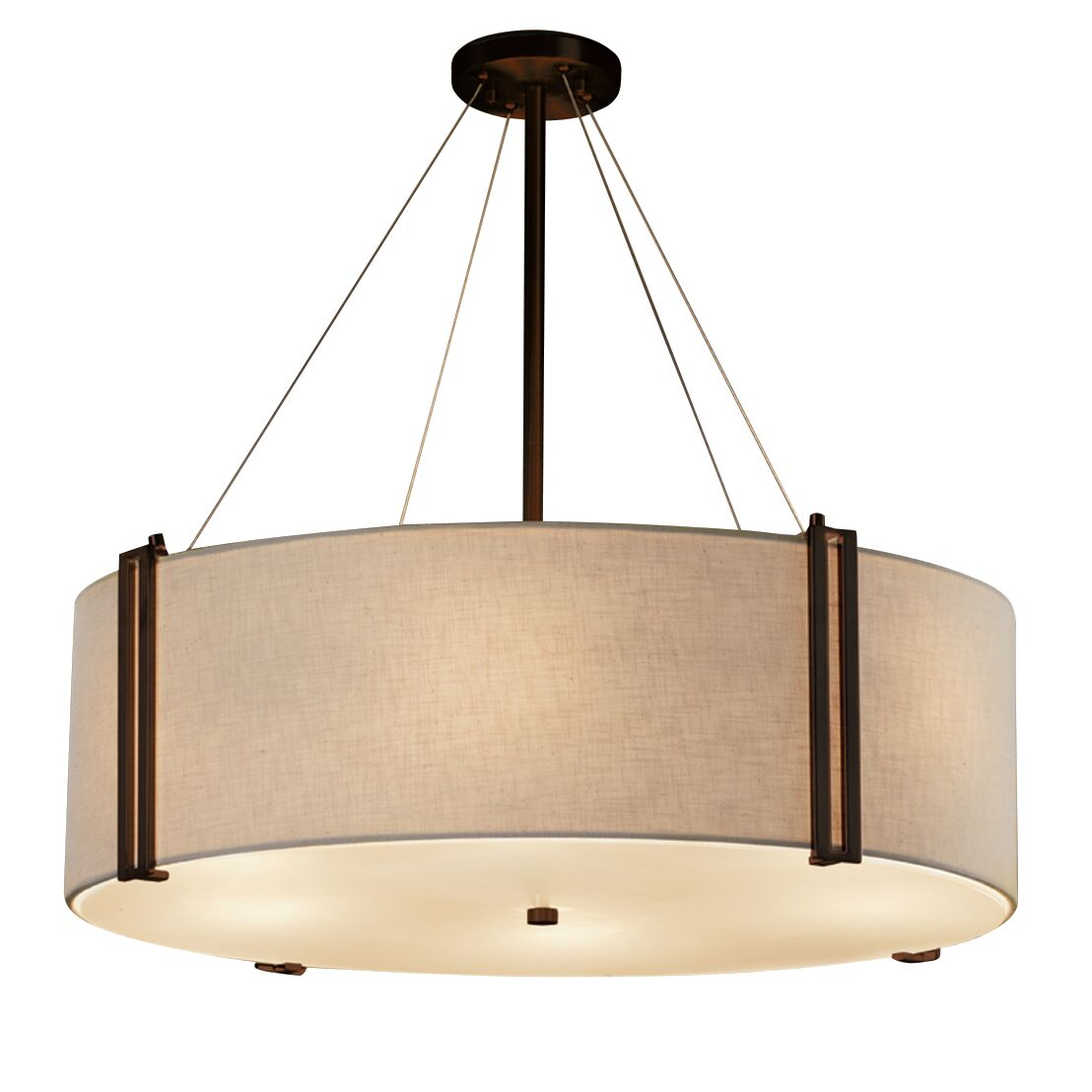 Kenyon Drum Pendant Shade Color: Cream, Size: 12