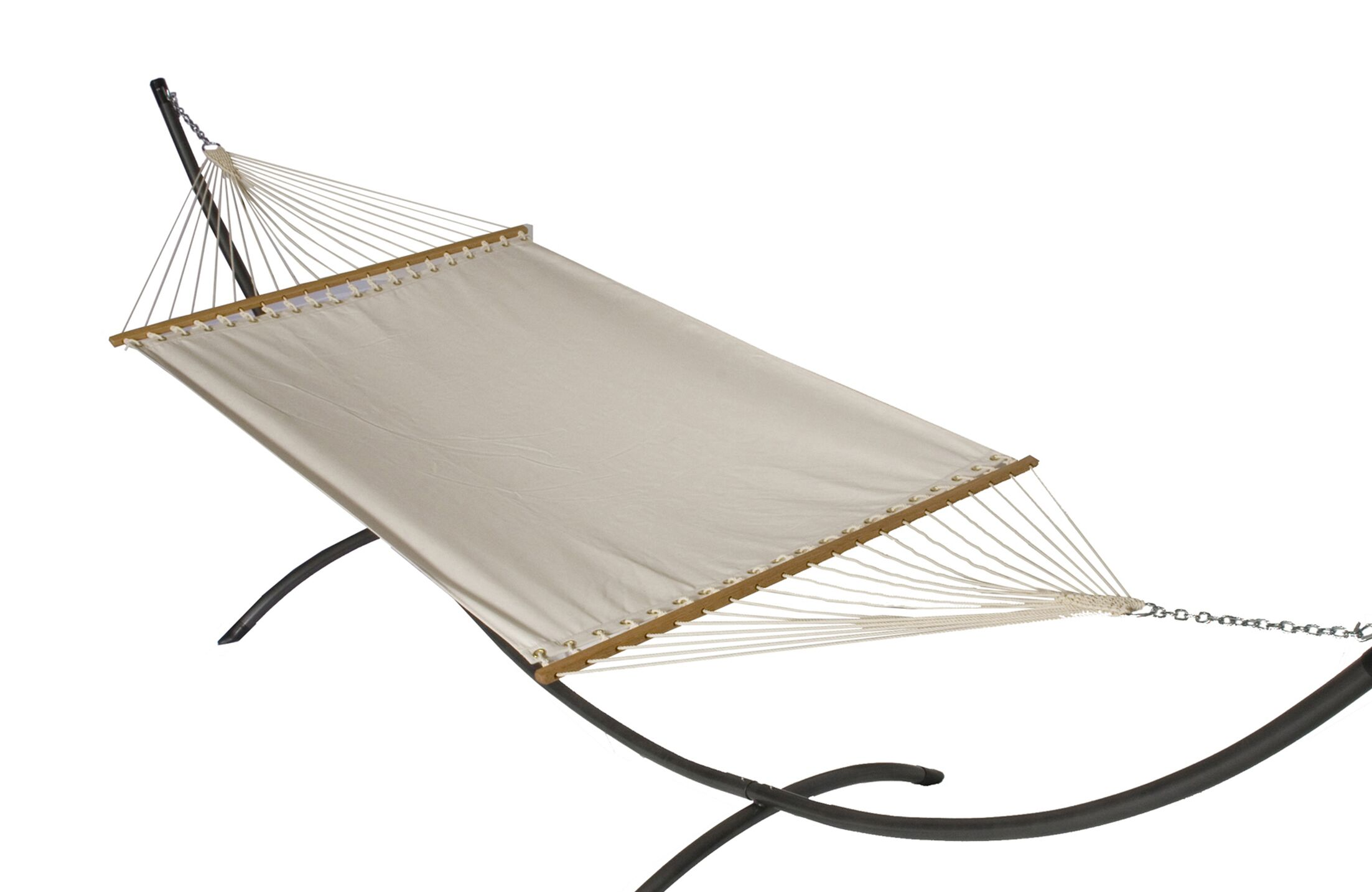 Mindi Modern Sunbrella Hammock with Stand Color: Bird's Eye, Base Color: Pewter