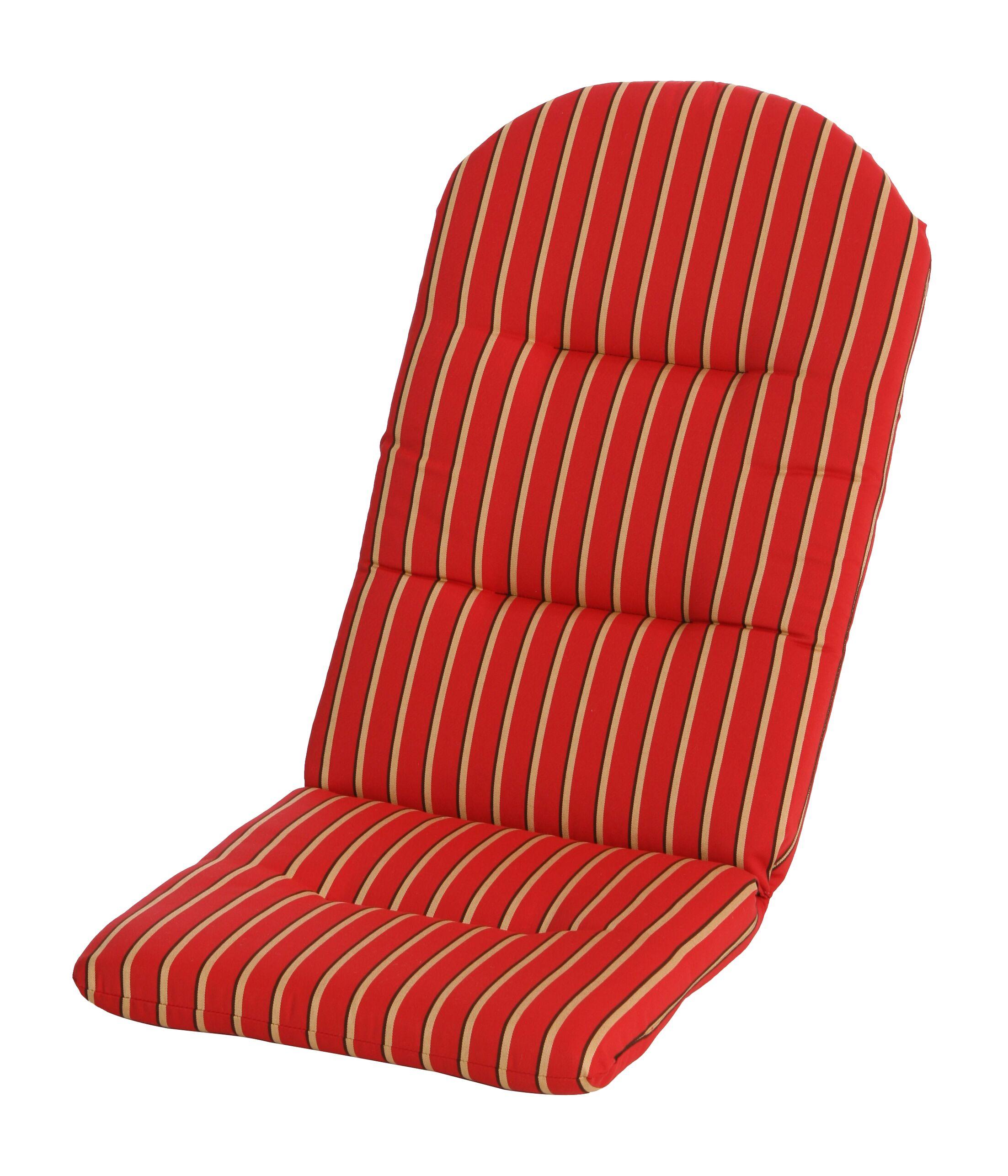 Phat Tommy Indoor/Outdoor Sunbrella Adirondack Chair Cushion Color: Crimson