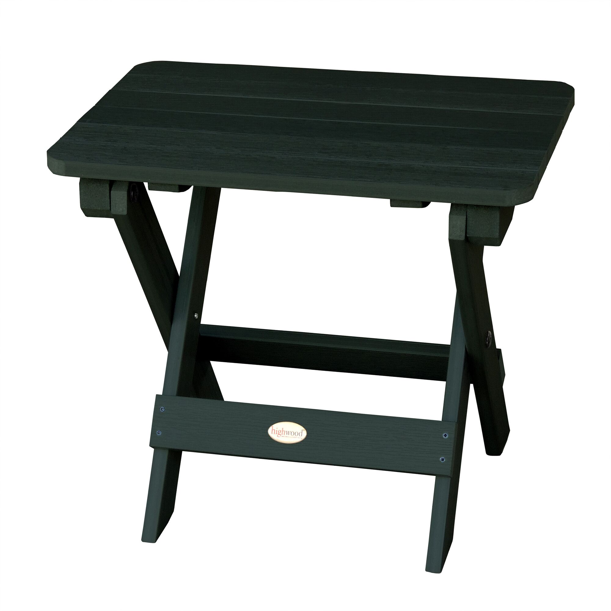 Phat Tommy Folding Wooden Side Table Finish: Charleston Green