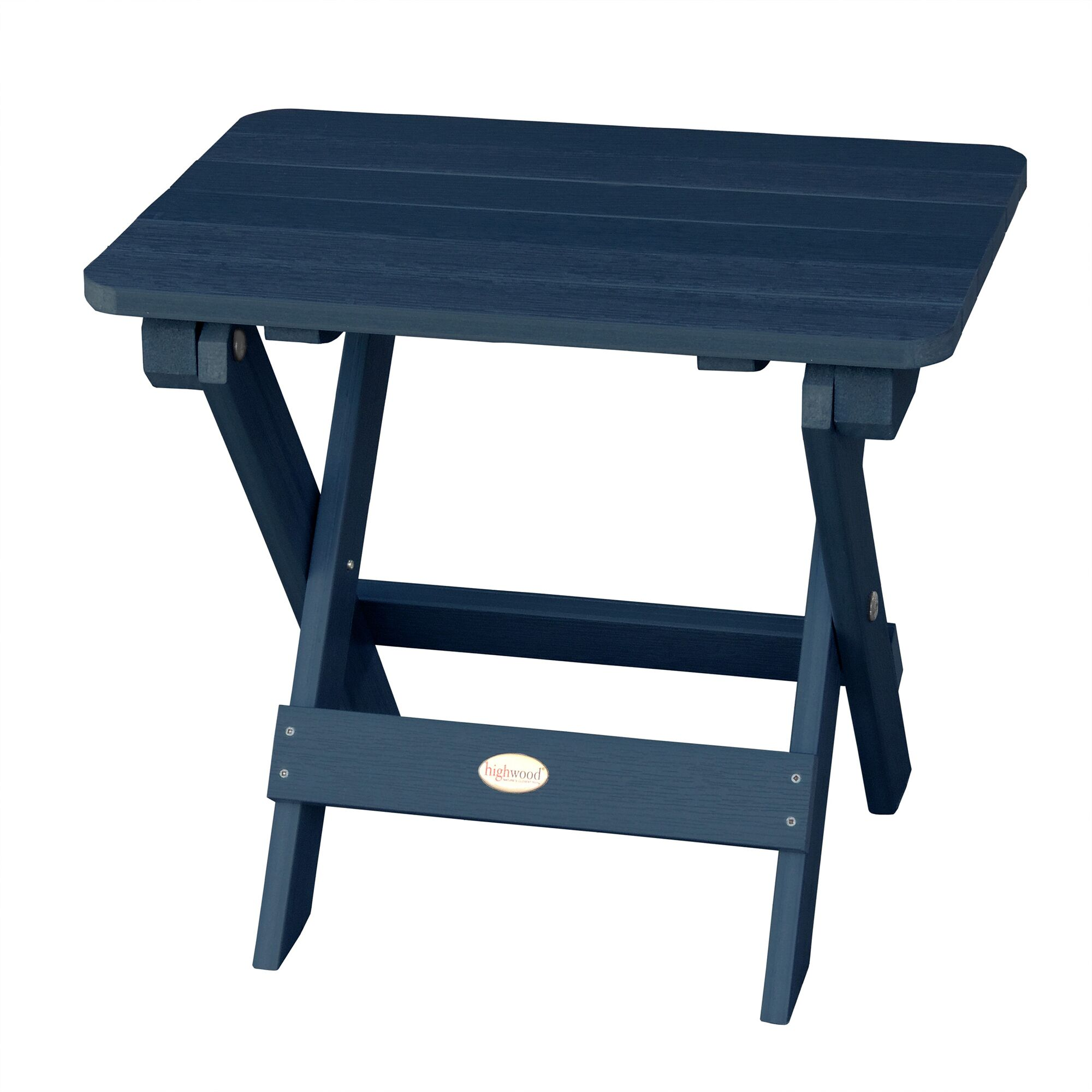 Phat Tommy Folding Wooden Side Table Finish: Nantucket Blue