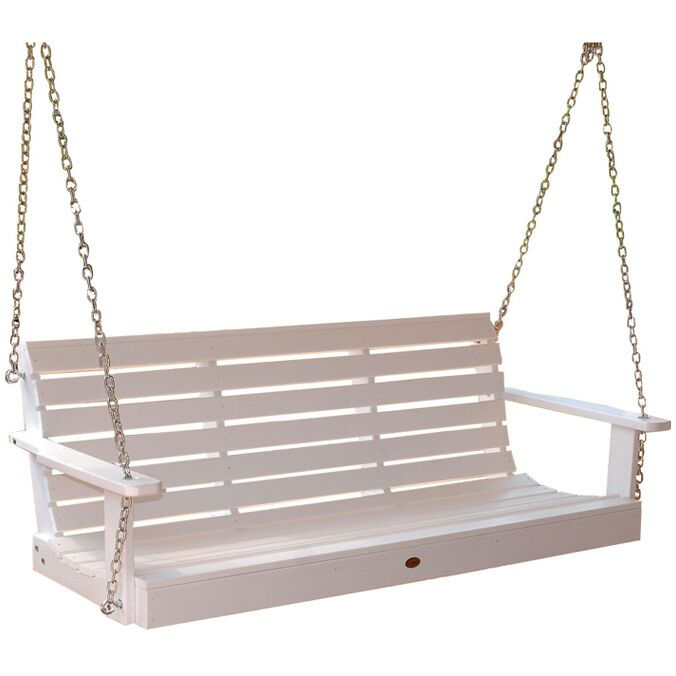 Phat Tommy Weatherly Porch Swing Finish: White