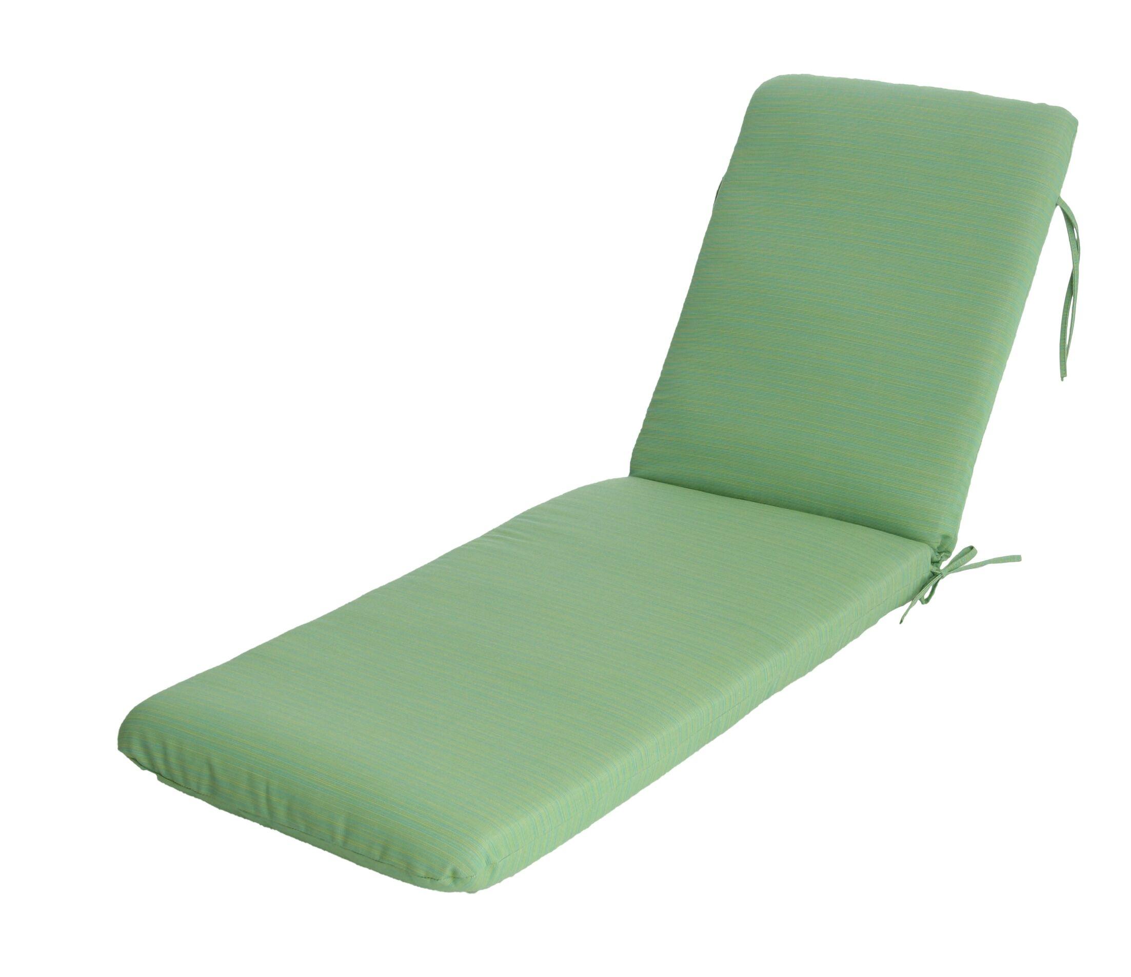 Mindi Indoor/Outdoor Sunbrella Chaise Lounge Cushion Fabric: Paradise