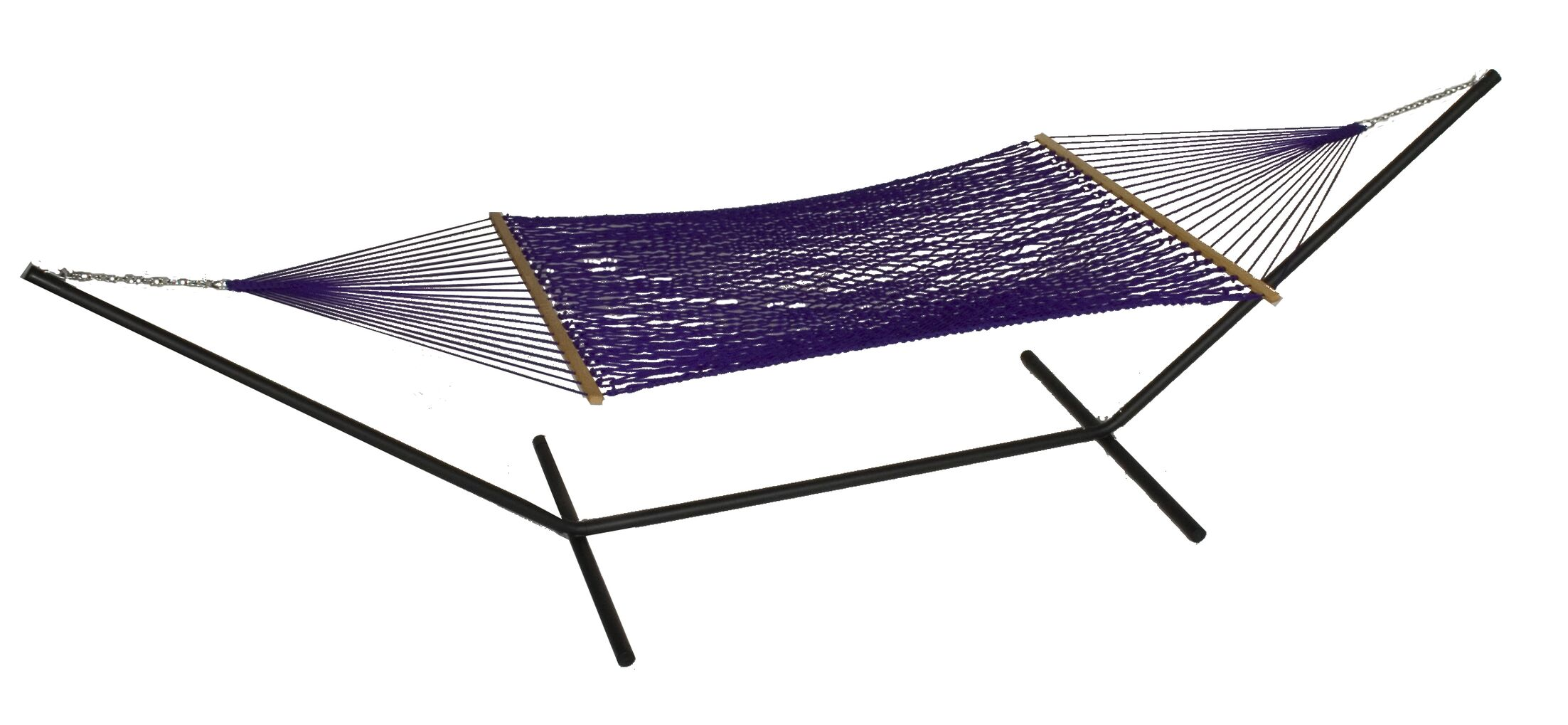 Mindi Solid Polyester Hammock with Stand Color: Purple