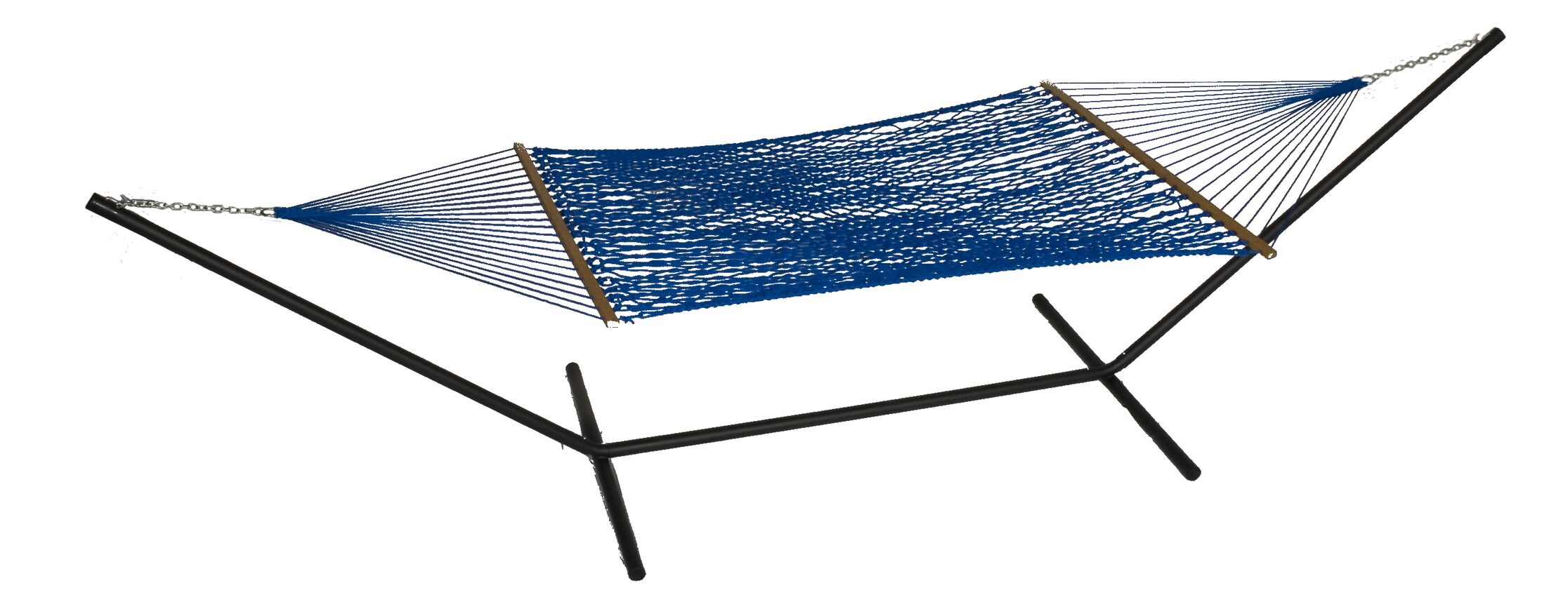 Mindi Solid Polyester Hammock with Stand Color: Bold Blue