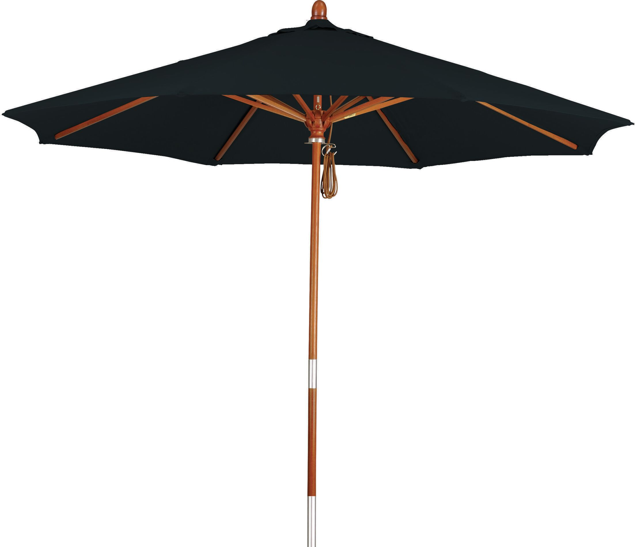 Phat Tommy 7.5' Market Umbrella Fabric: Spa, Material: Wood