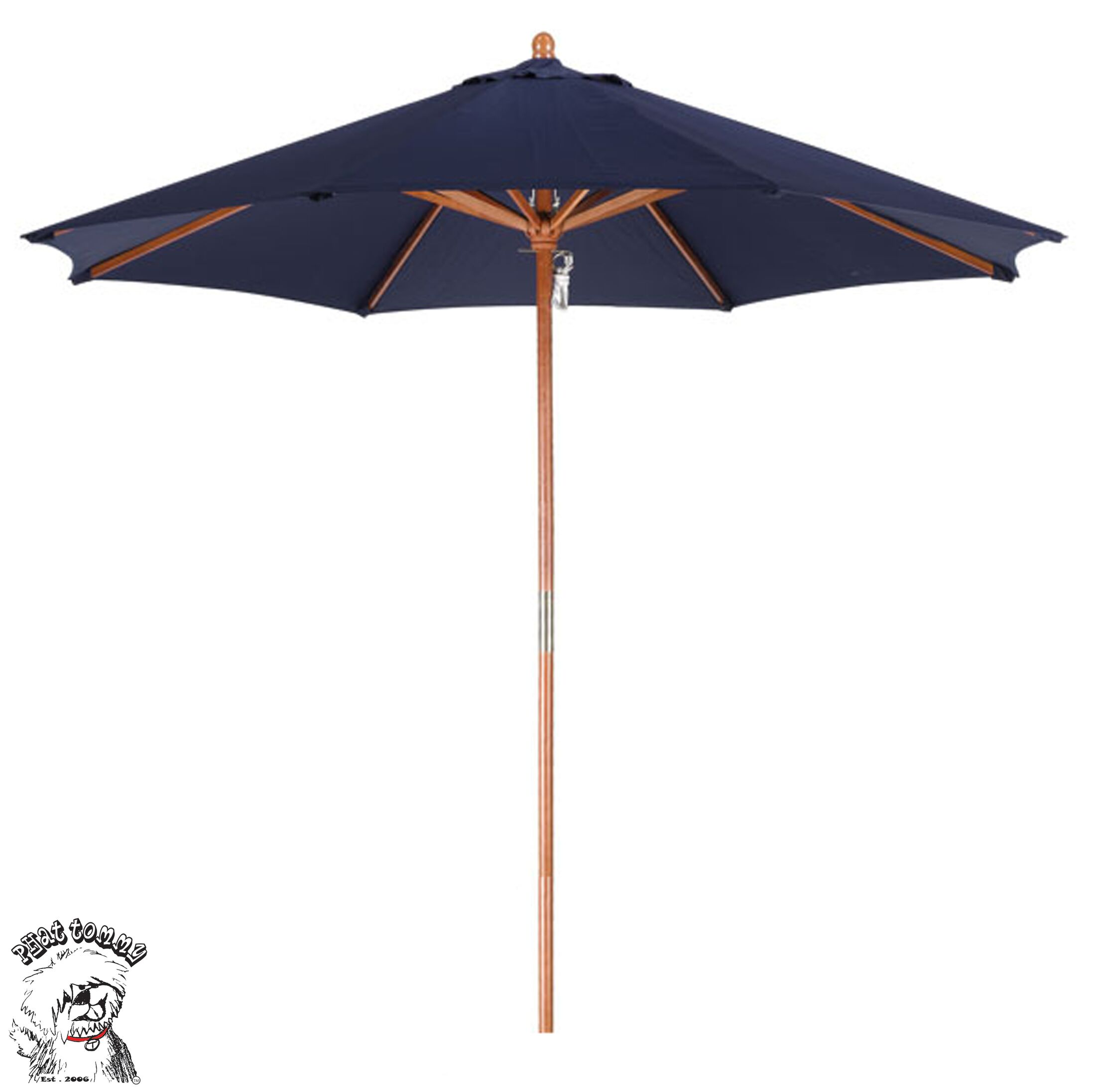 Phat Tommy 9' Market Umbrella Fabric: Navy Blue