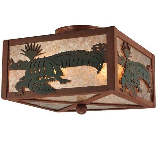 Alligator 2-Light Flush Mount