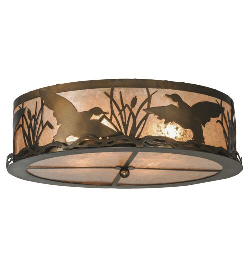 Ducks in Flight 4-Light Flush Mount