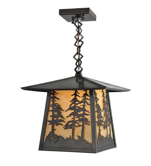 Stillwater Tall Pines Ceiling 1-Light Lantern Pendant