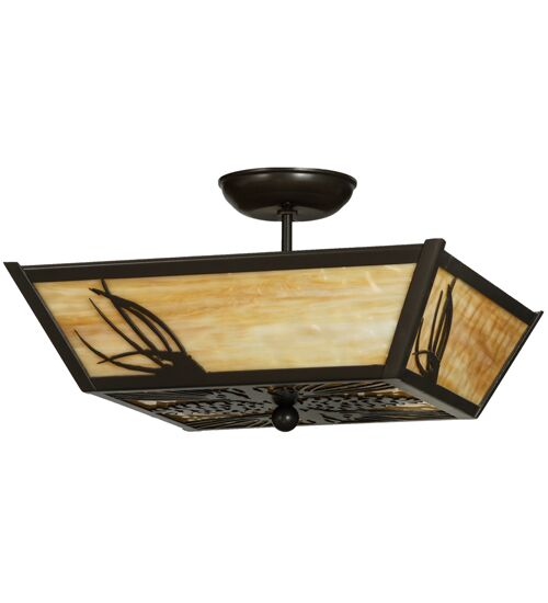 Mountain Pine 3-Light Semi-Flush Mount