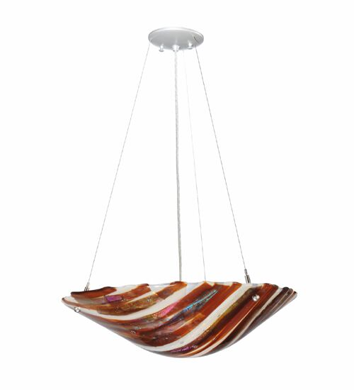Marina Fused Glass 2-Light Bowl Pendant